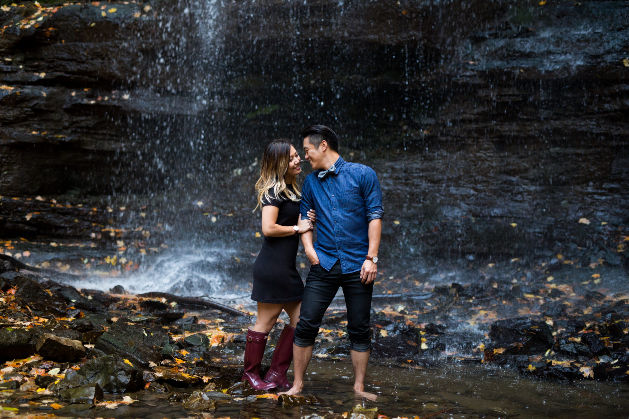 Love Engagement Shoot Tiffany Falls Waterfall Zsuzsi Pal Photography