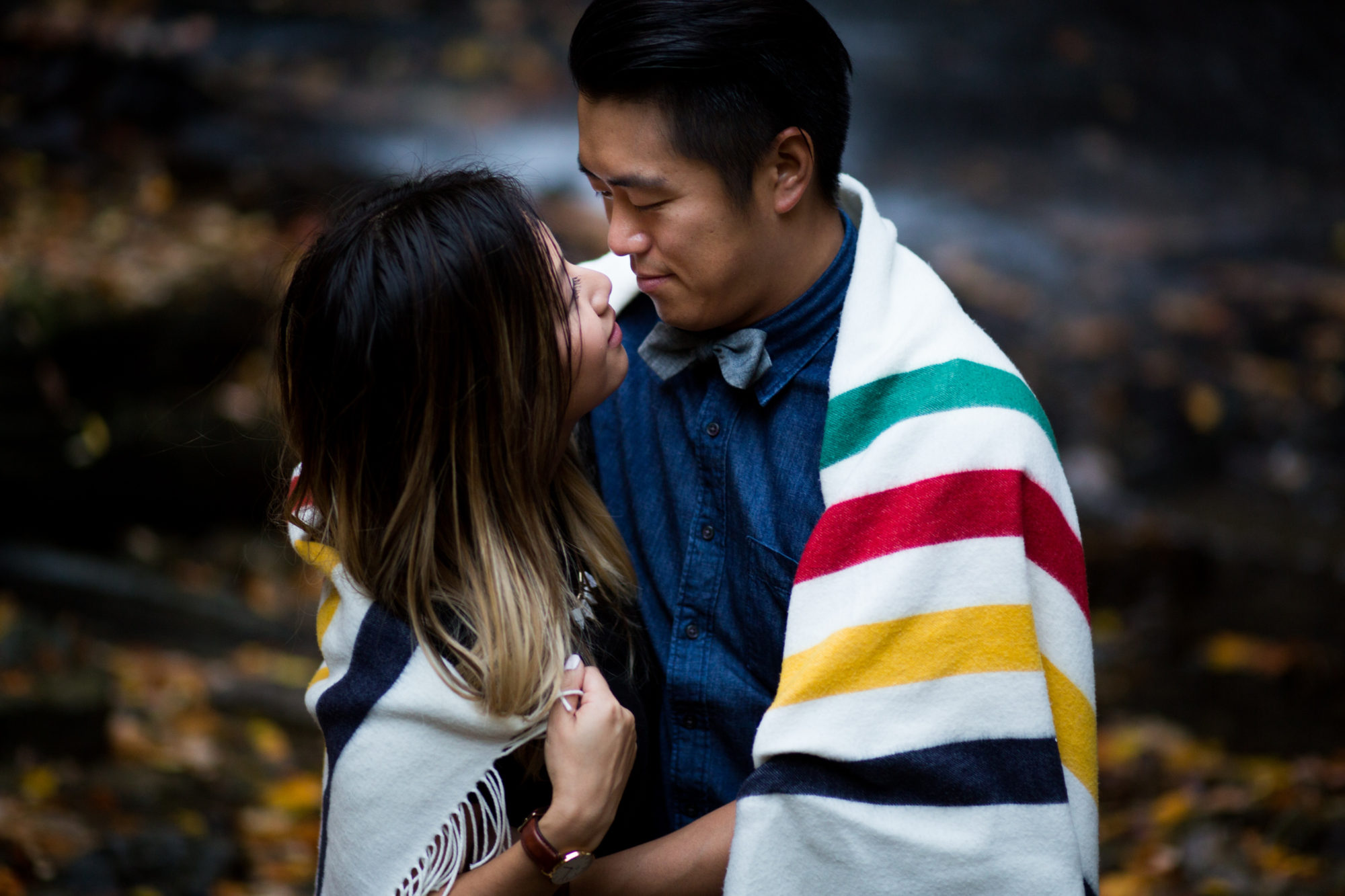 The Bay Blanket Engagement Shoot Tiffany Falls Waterfall Zsuzsi Pal Photography