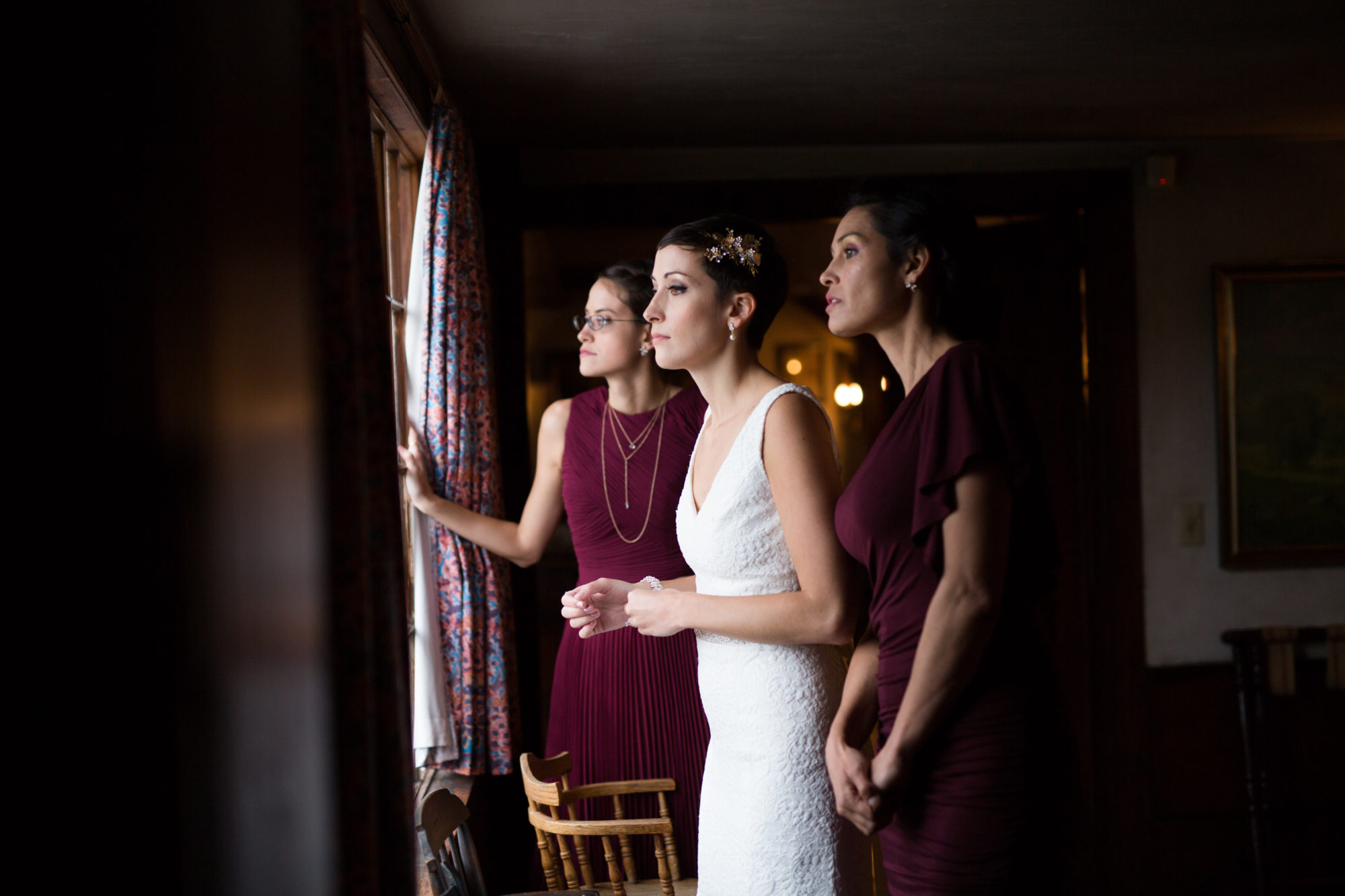 Bridesmaids Bride Sisters Wedding Massachusetts Zsuzsi Pal Photography Destination