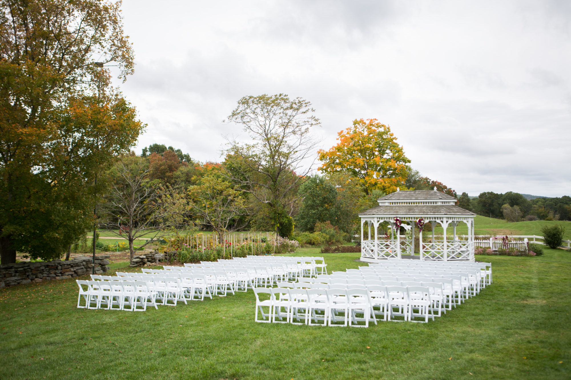 Gazebo Ceremony Outdoor Wedding Massachusetts Zsuzsi Pal Photography Destination