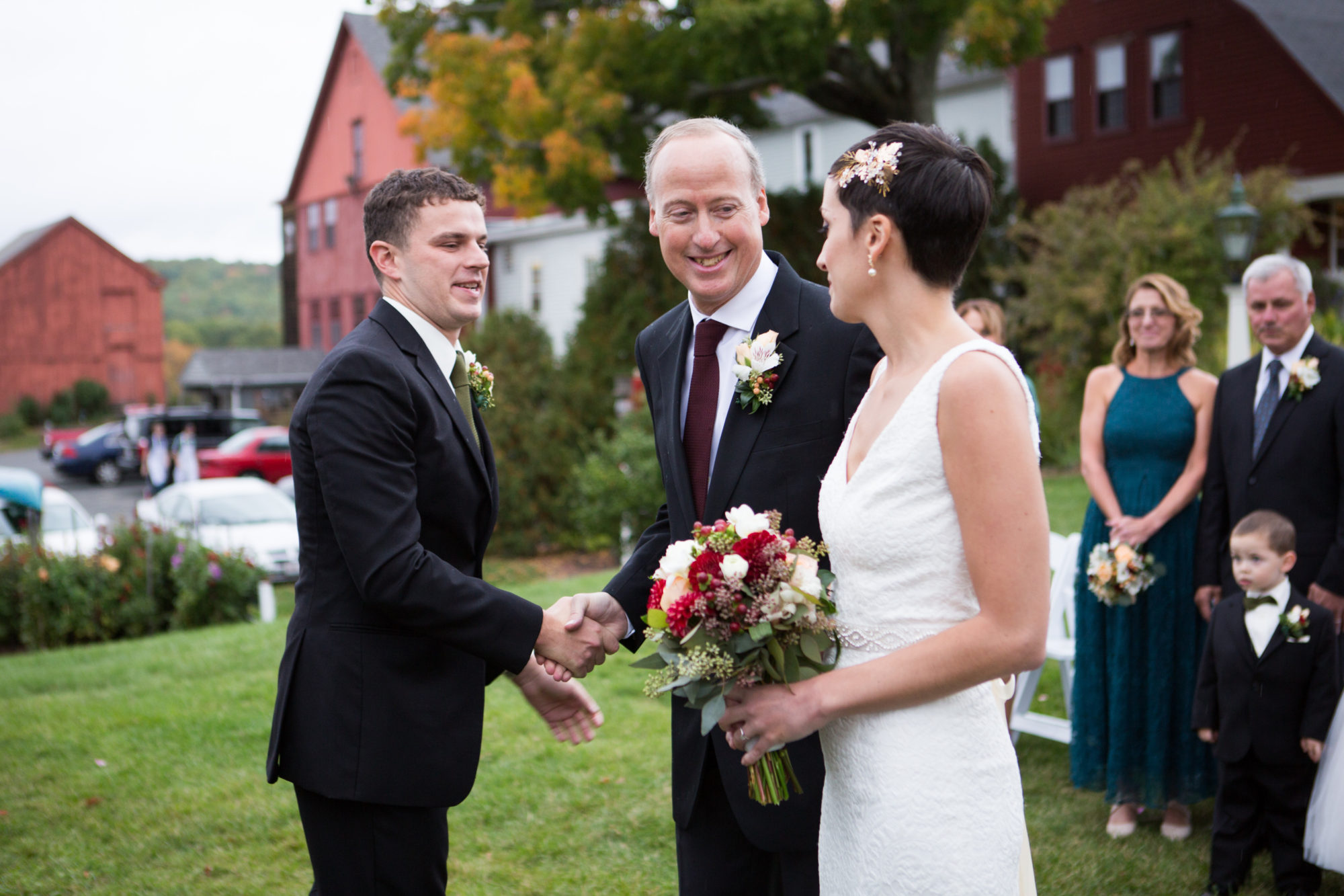 Father Ceremony Bride Groom Wedding Massachusetts Zsuzsi Pal Photography Destination