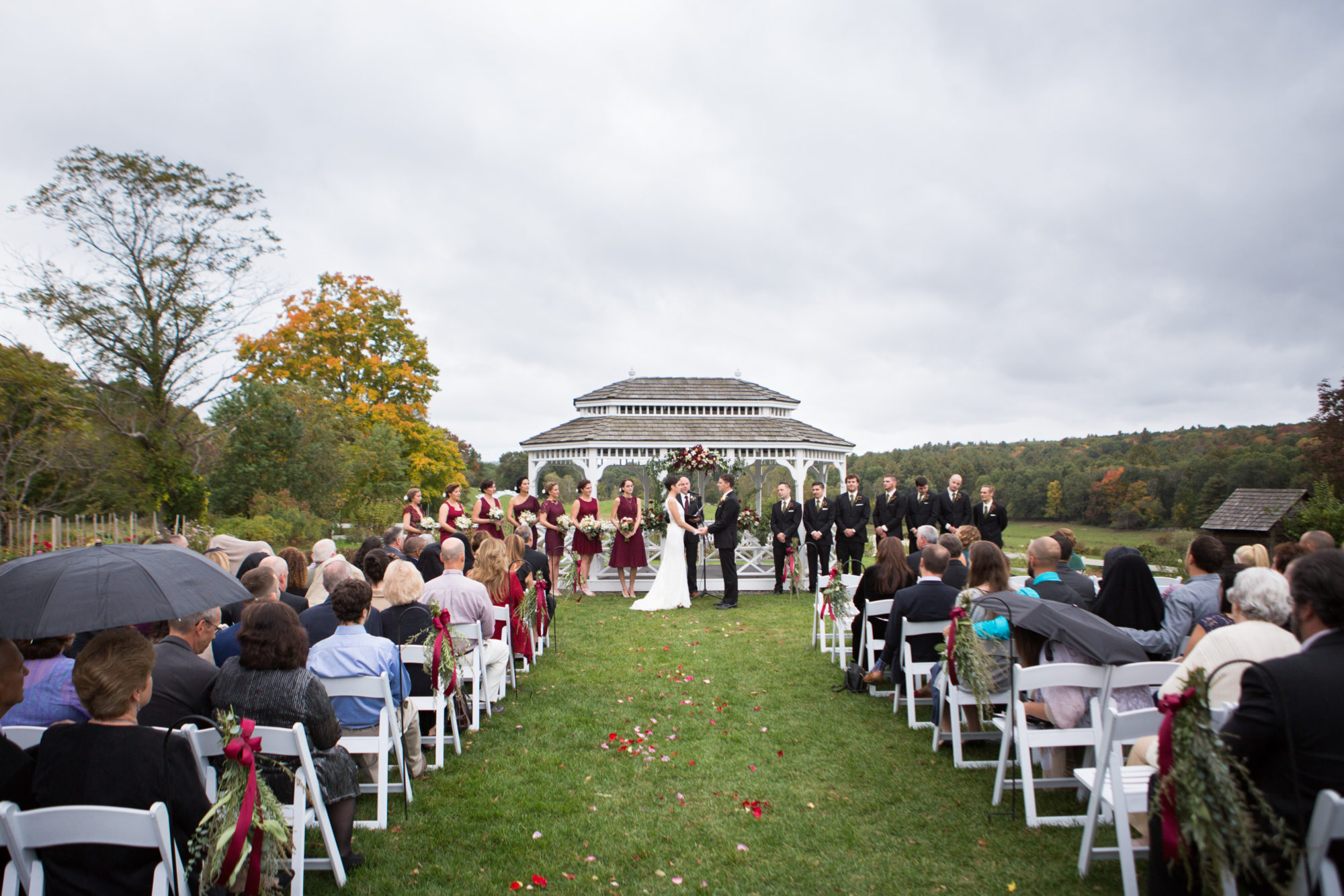 Outdoor Ceremony Gazebo Wedding Massachusetts Zsuzsi Pal Photography Destination