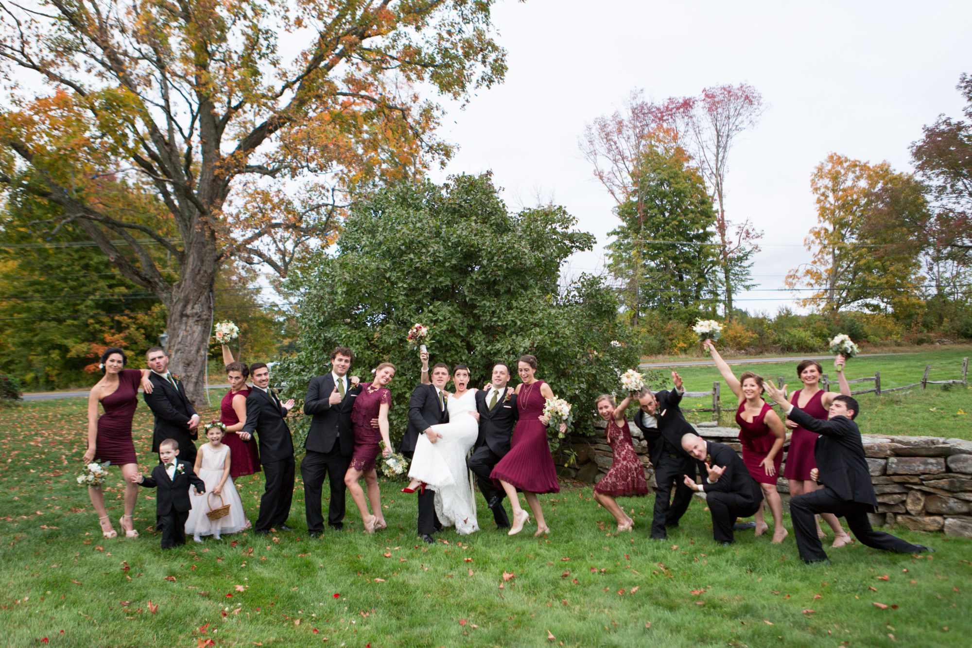 Wedding Party Silly Bride Groom Wedding Massachusetts Zsuzsi Pal Photography Destination
