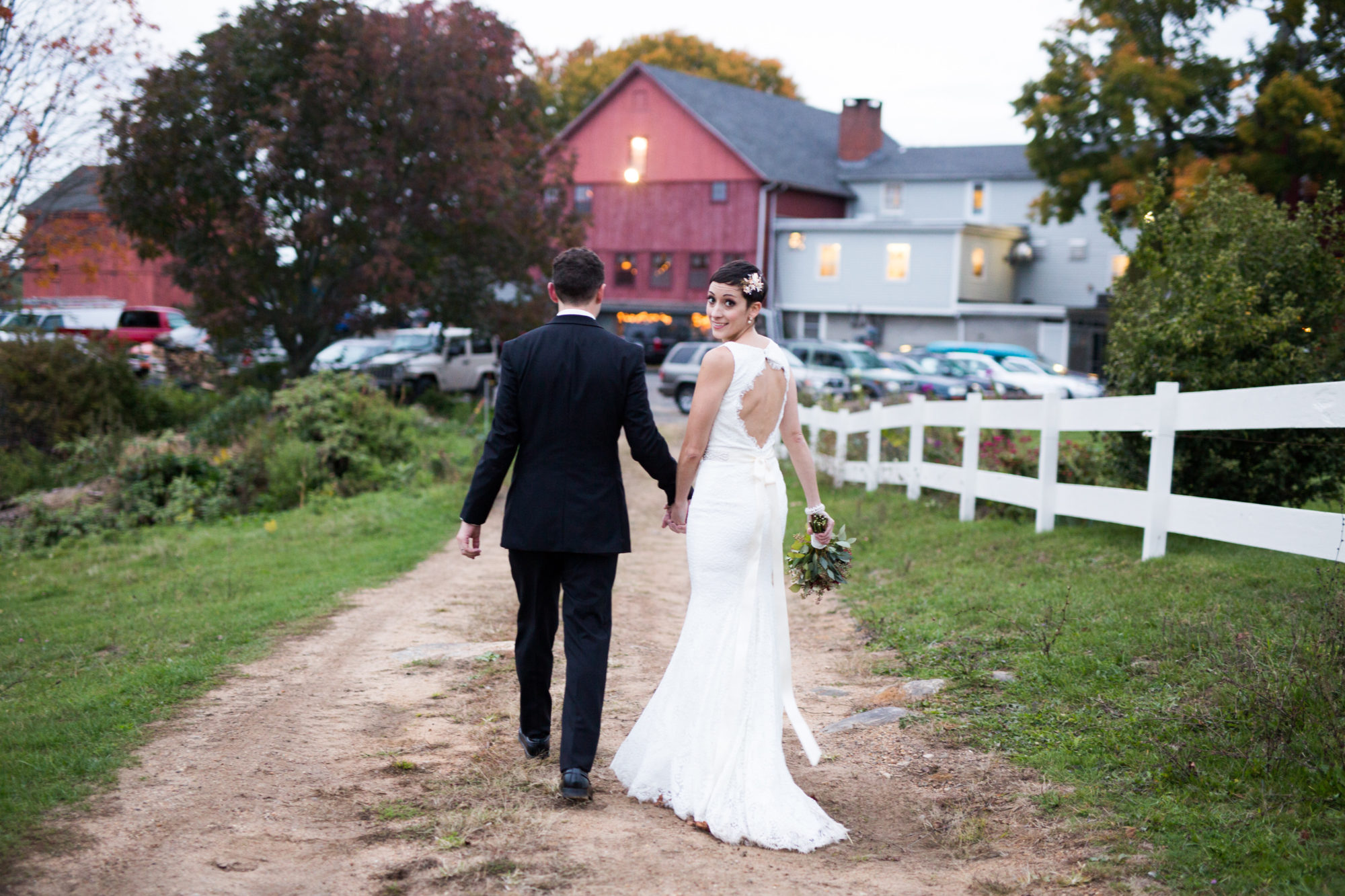 Couple Barn Wedding Massachusetts Zsuzsi Pal Photography Destination