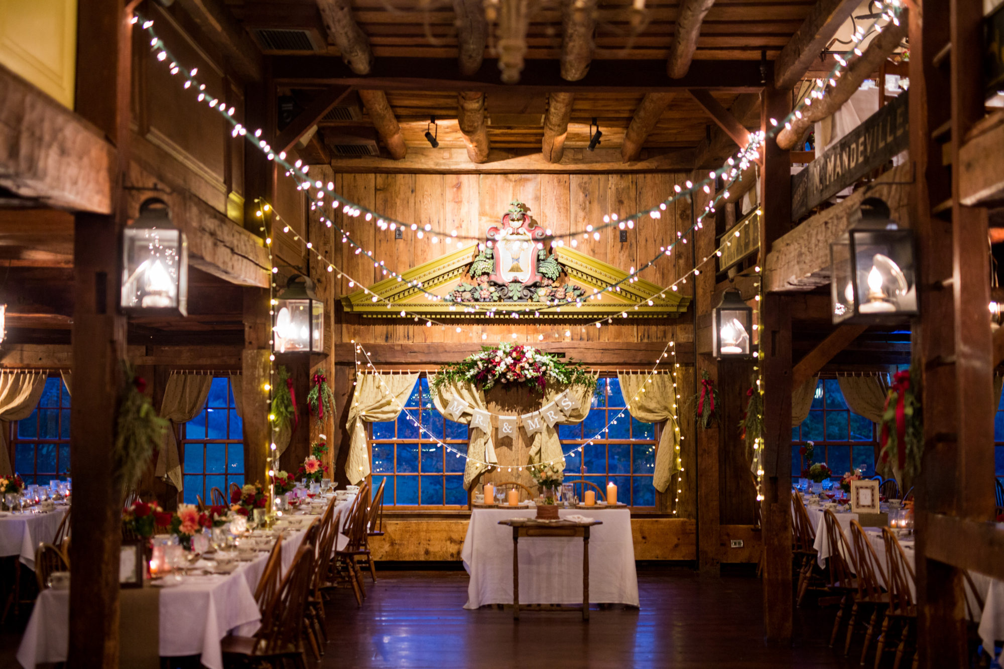 Barn Rustic Reception Decor Wedding Massachusetts Zsuzsi Pal Photography Destination