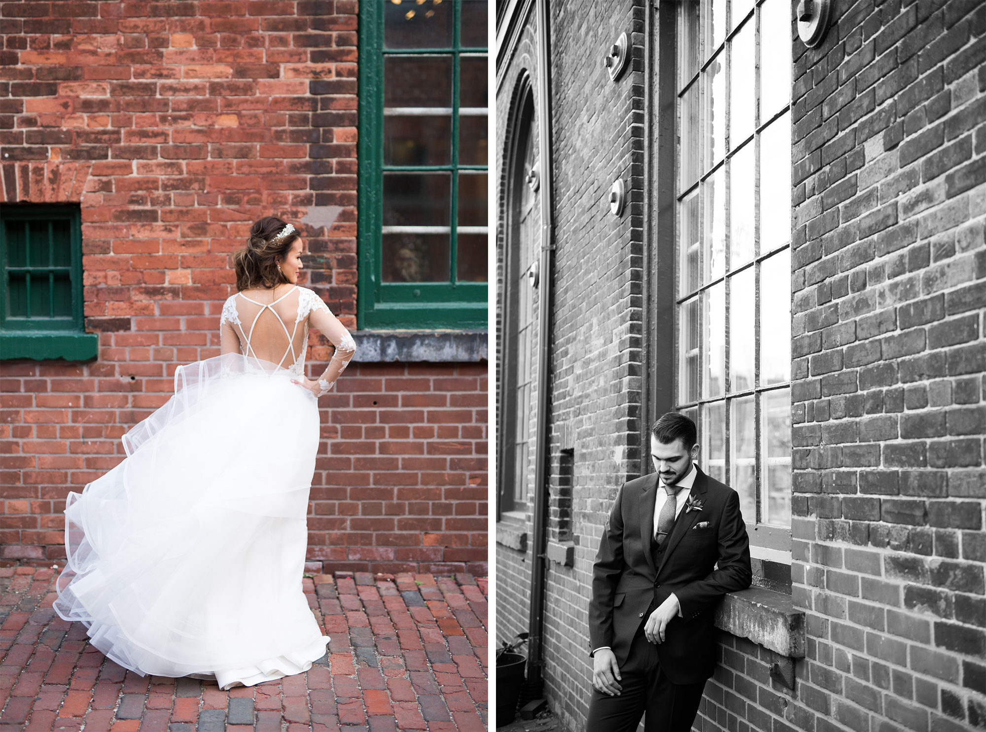 Bride Groom Distillery District Toronto Wedding Zsuzsi Pal Photography