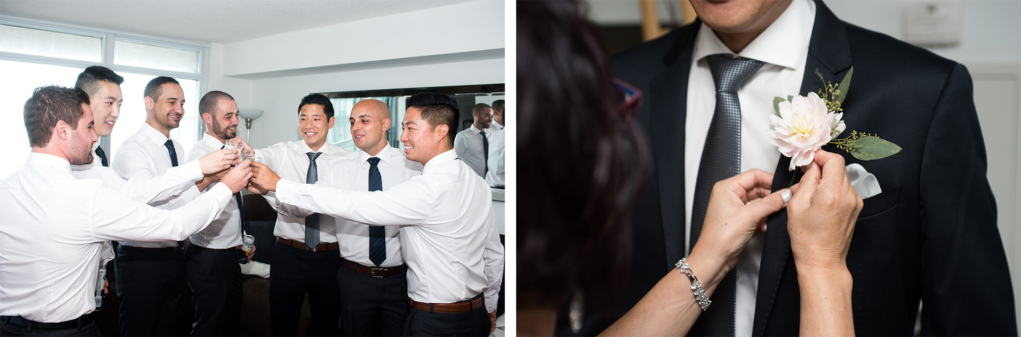 Groomsmen Groom Toast Boutonniere Zsuzsi Pal Photography Toronto Wedding
