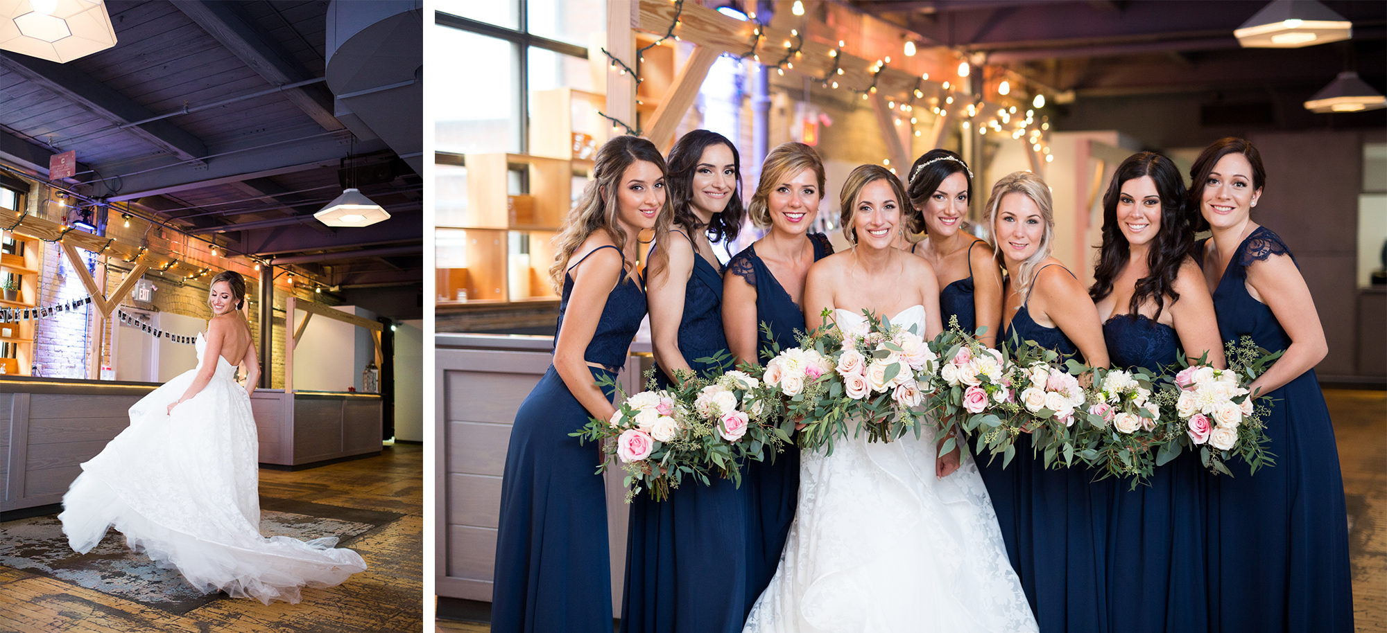 Bridesmaids Hayley Paige Zsuzsi Pal Photography Toronto Wedding 2nd Second Floor Events