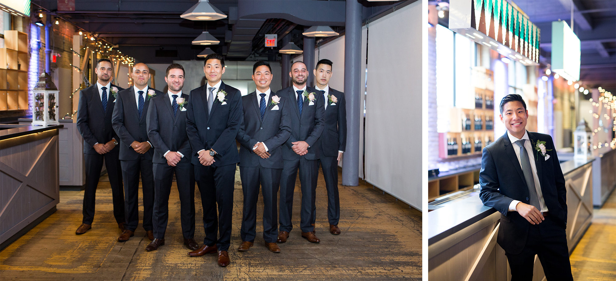 Groomemen Groom Zsuzsi Pal Photography Toronto Wedding 2nd Second Floor Events