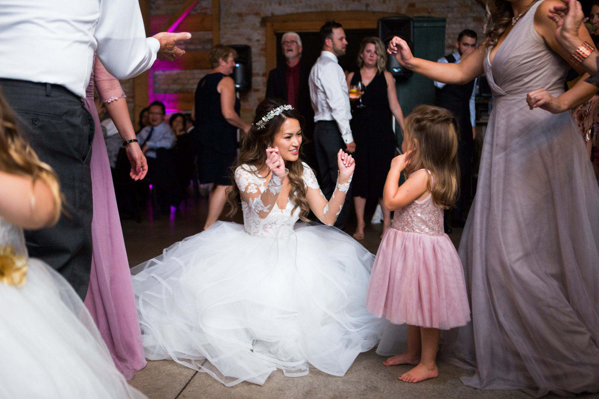 Bride Flower Girl Dance Reception Archeo Toronto Wedding Zsuzsi Pal Photography