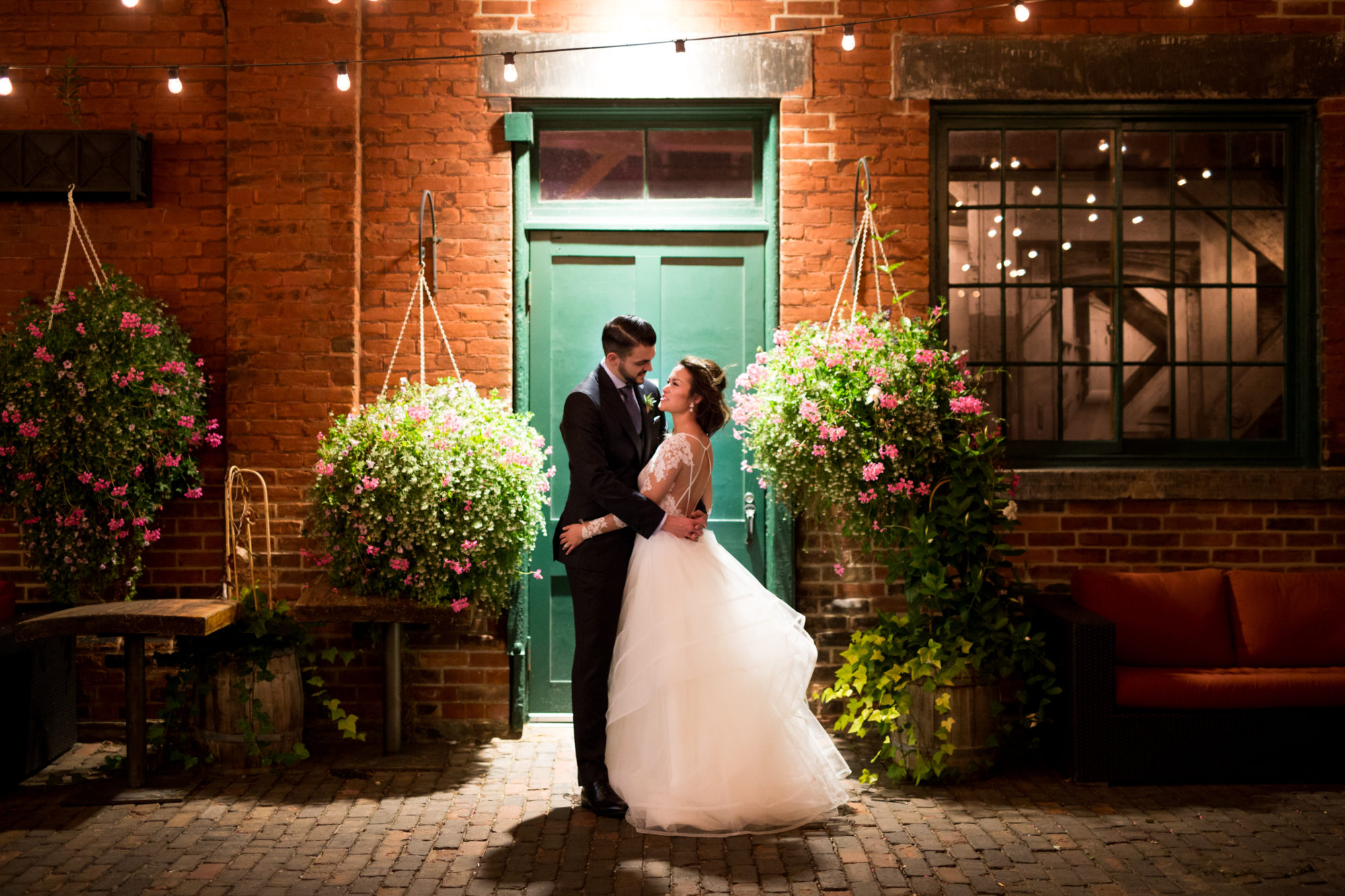 Night Shot Distillery Archeo Toronto Wedding Zsuzsi Pal Photography