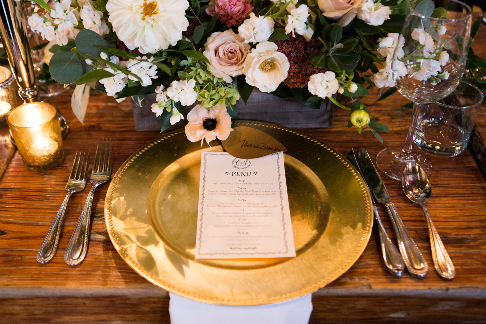 Archeo Distillery District Table Setting Toronto Wedding Zsuzsi Pal Photography