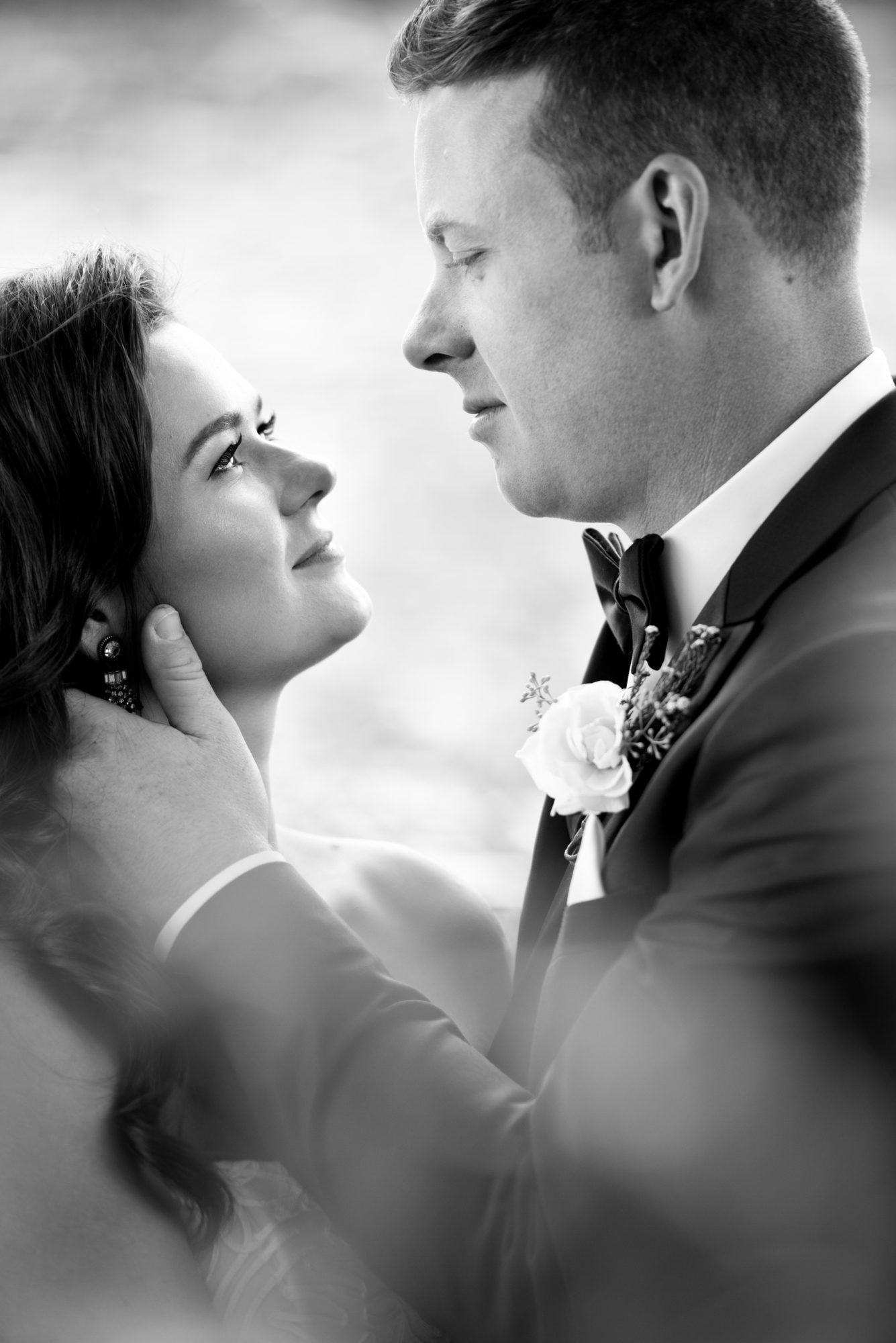 Black and White Couple Toronto Wedding Zsuzsi Pal Photography