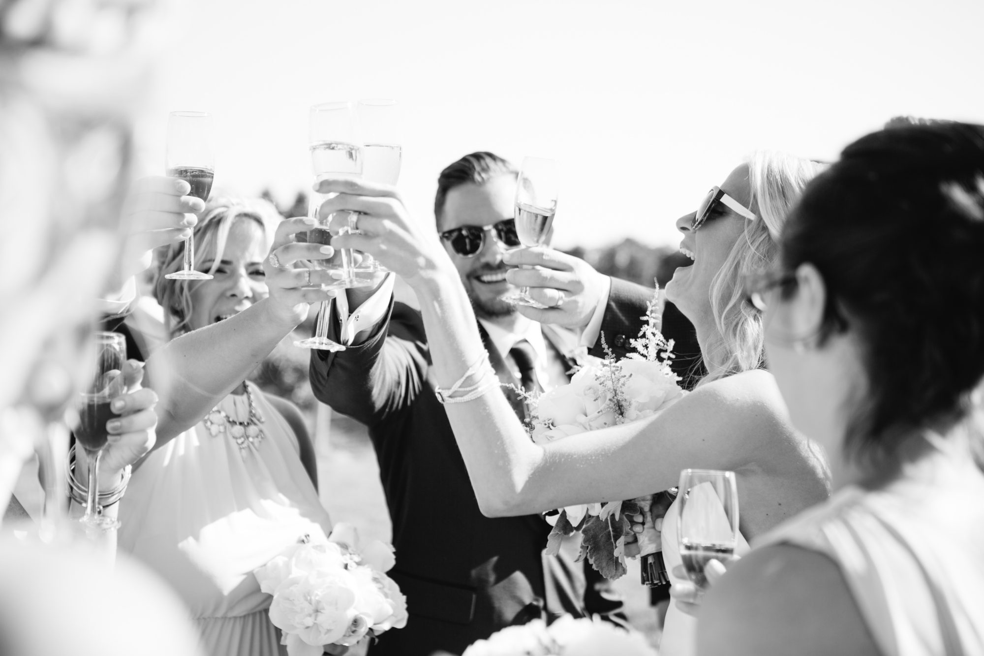 Married Celebration Cheers Toronto Wedding Zsuzsi Pal Photography