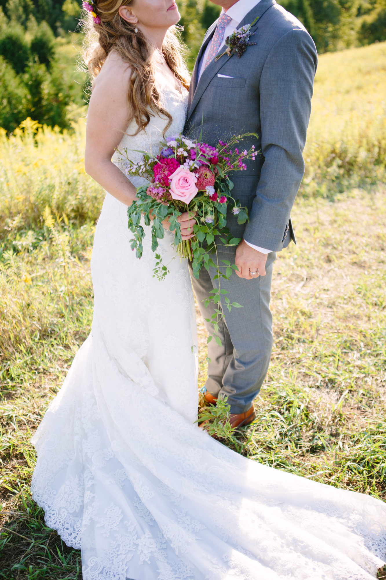 Bride Groom Field Flowers South Pond Farms Zsuzsi Pal Photography Wedding