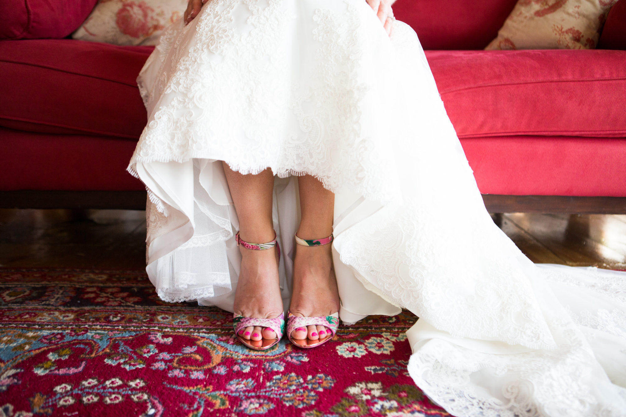 Bride Shoes Prep South Pond Farms Zsuzsi Pal Photography Wedding
