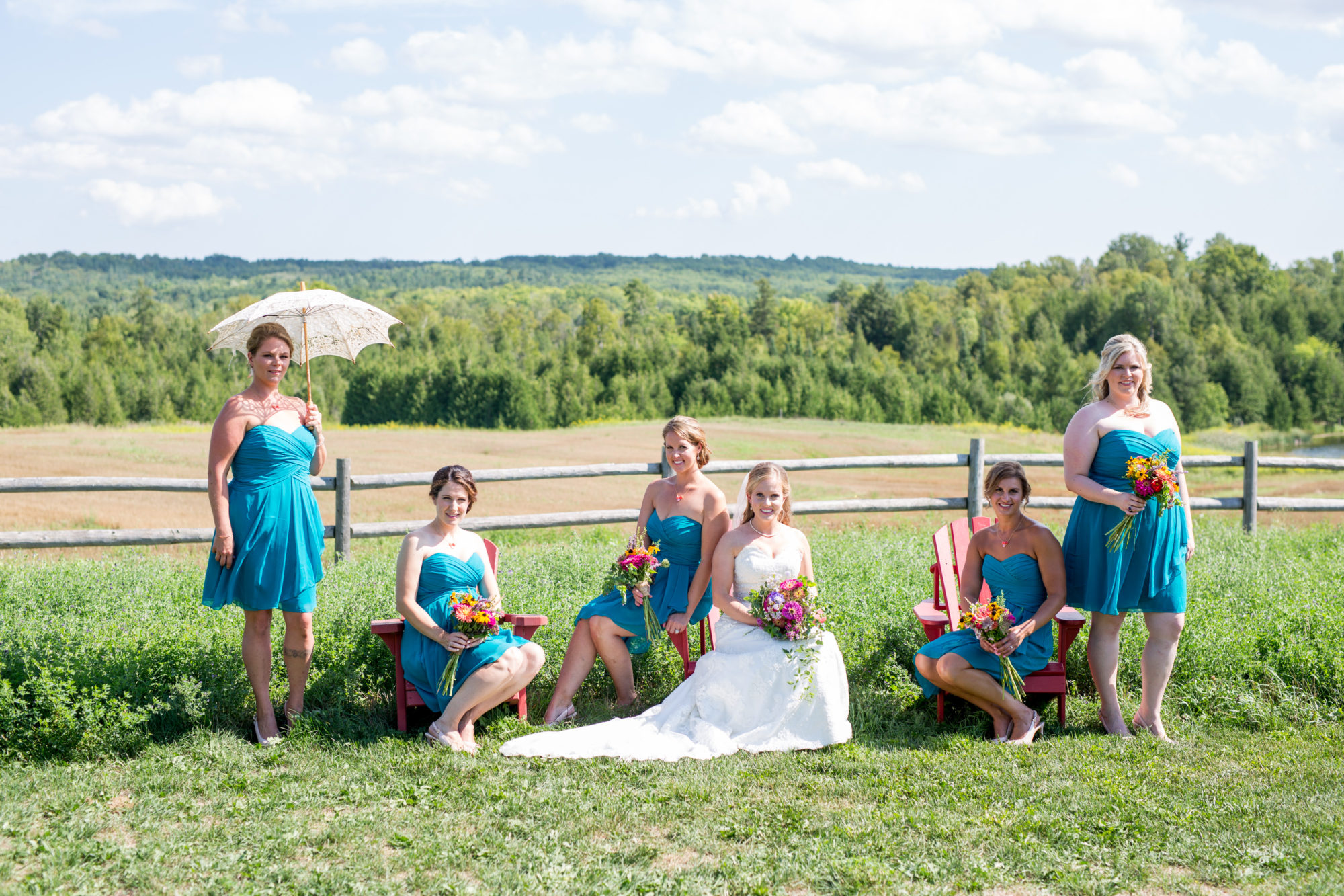 bridesmaids South Pond Farms Zsuzsi Pal Photography Wedding