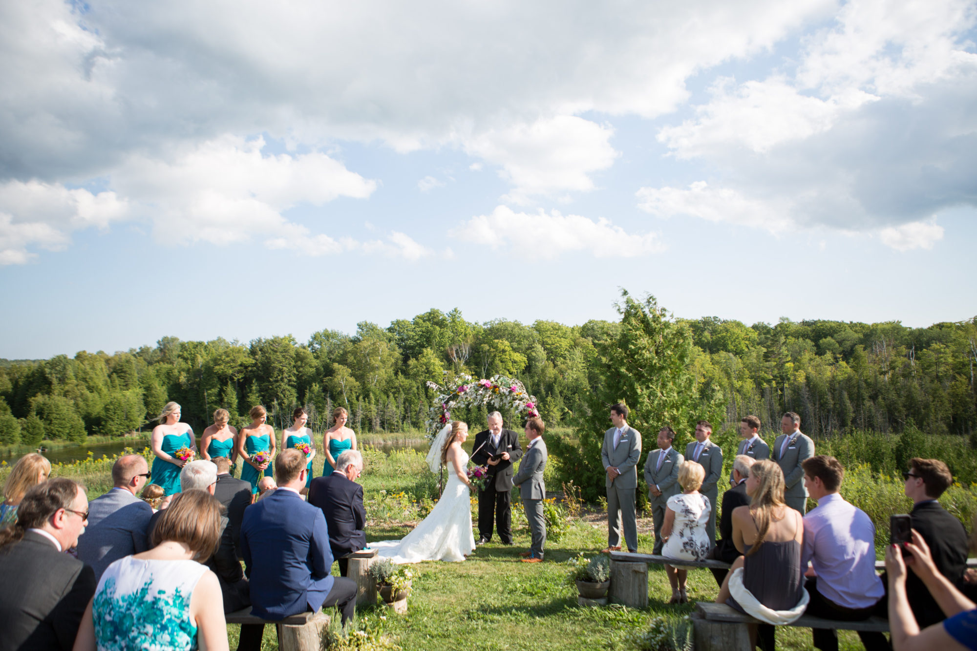 Outdoor Ceremony South Pond Farms Zsuzsi Pal Photography Wedding