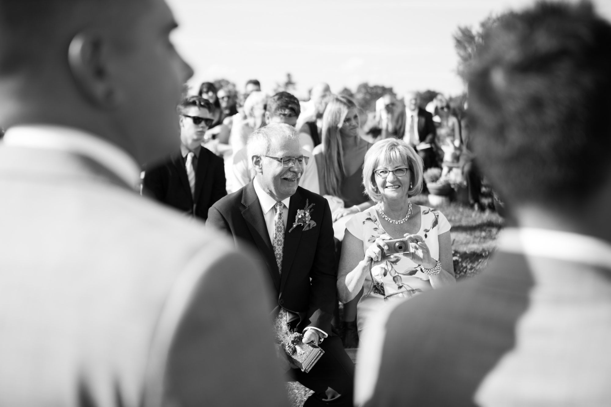 Parents Black and White Ceremony South Pond Farms Zsuzsi Pal Photography Wedding