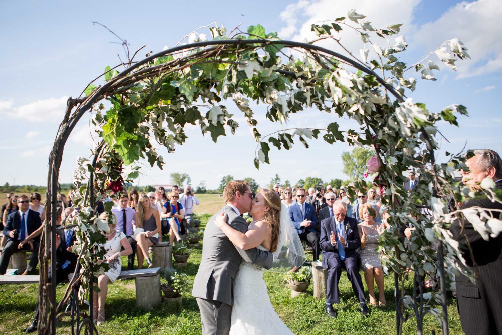 Ceremony Kiss South Pond Farms Zsuzsi Pal Photography Wedding