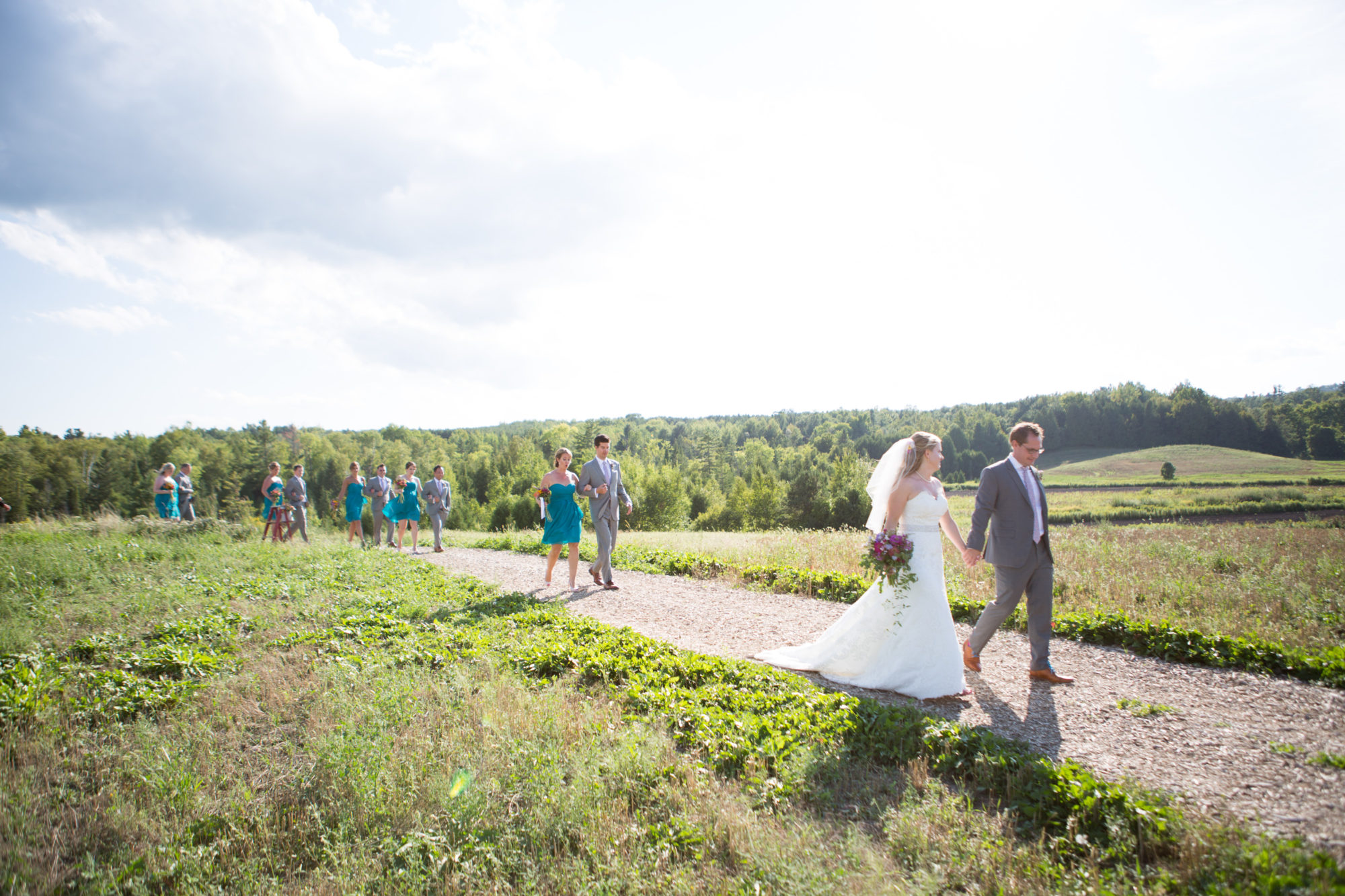 Ceremony Walk South Pond Farms Zsuzsi Pal Photography Wedding