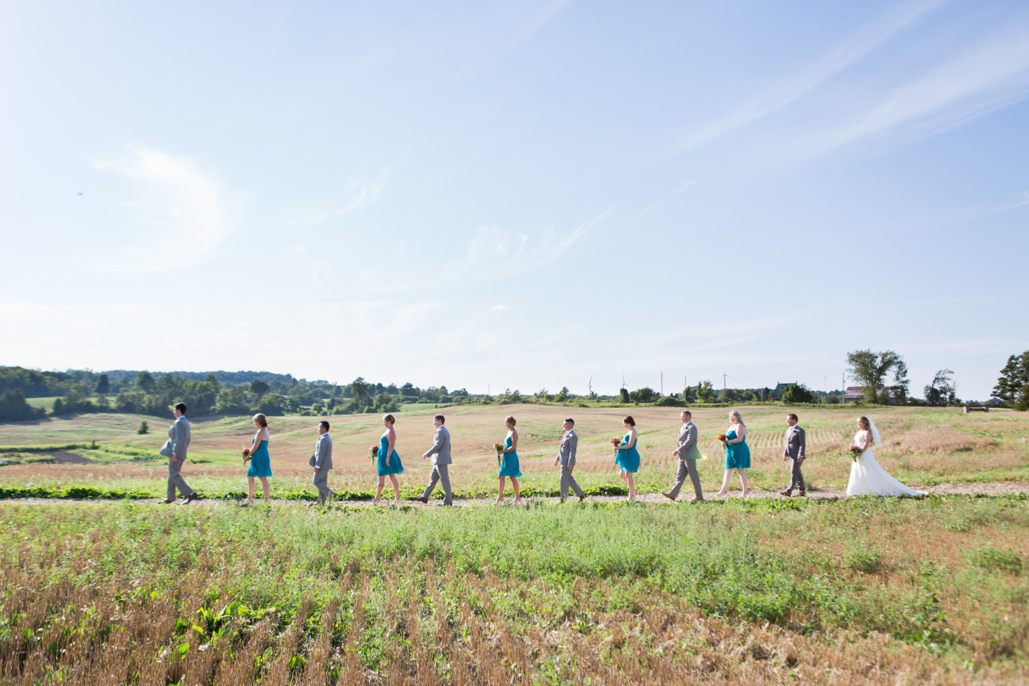 Wedding Bridal Party South Pond Farms Zsuzsi Pal Photography Wedding