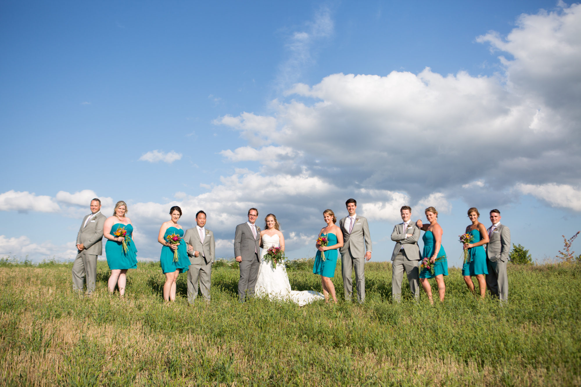 Bridal Party South Pond Farms Zsuzsi Pal Photography Wedding Field