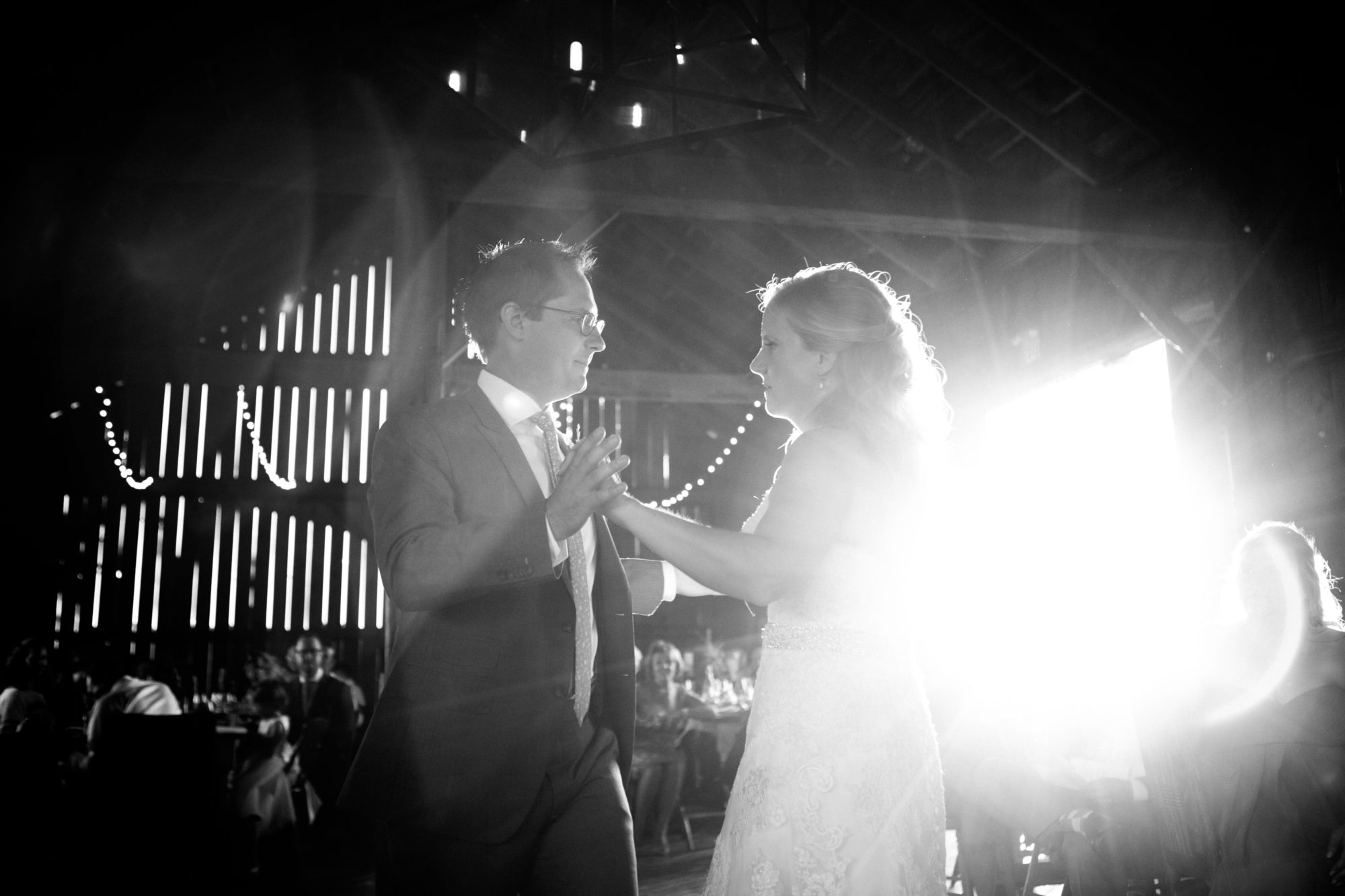 Black and White First Dance South Pond Farms Zsuzsi Pal Photography Wedding