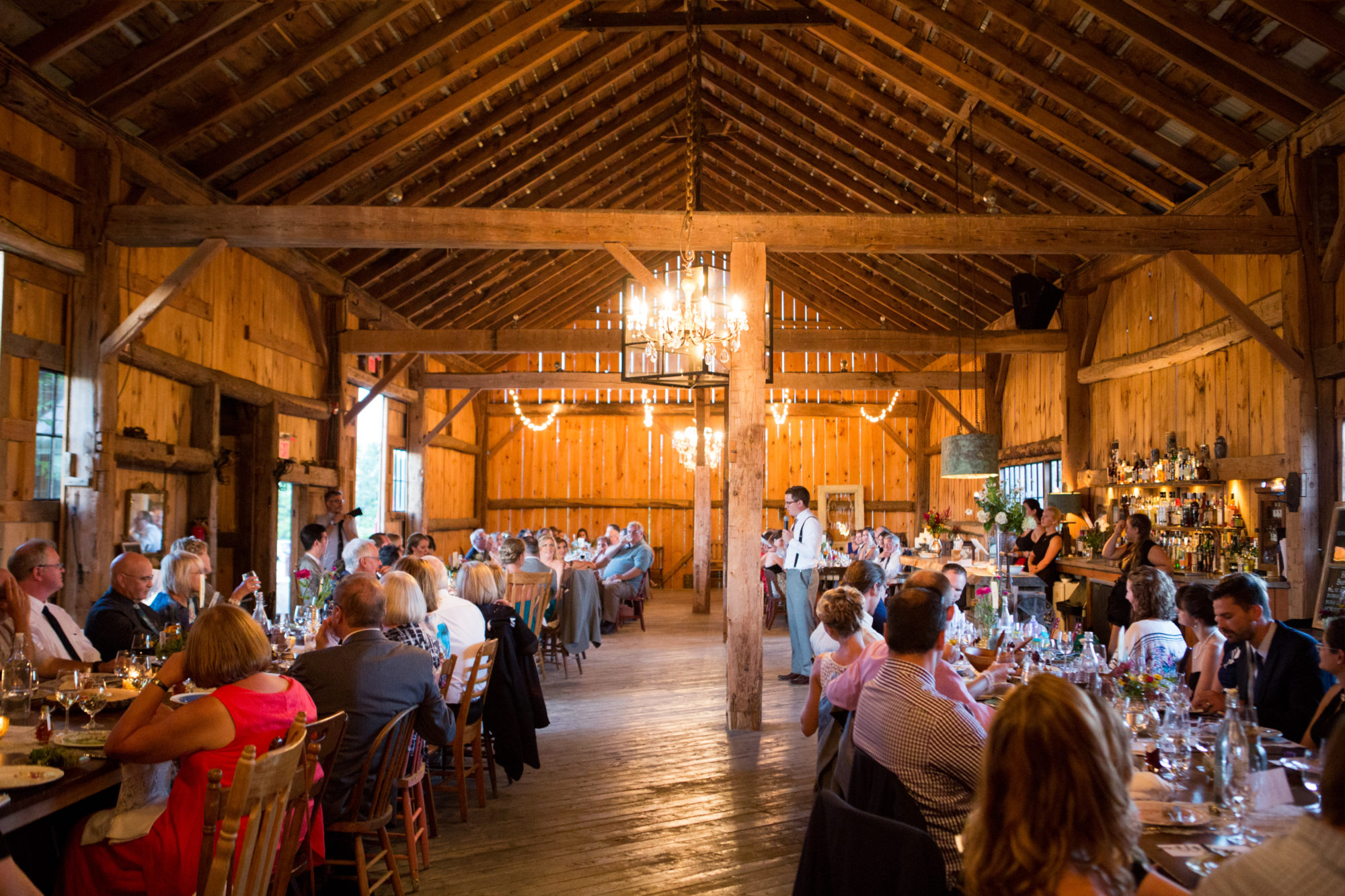 Speech Barn Reception South Pond Farms Zsuzsi Pal Photography Wedding