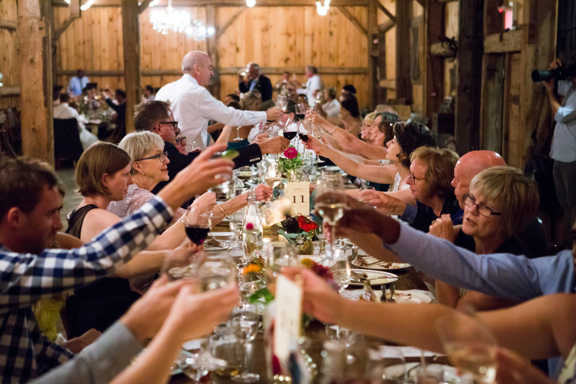 Harvest Table Barn Toast South Pond Farms Zsuzsi Pal Photography Wedding