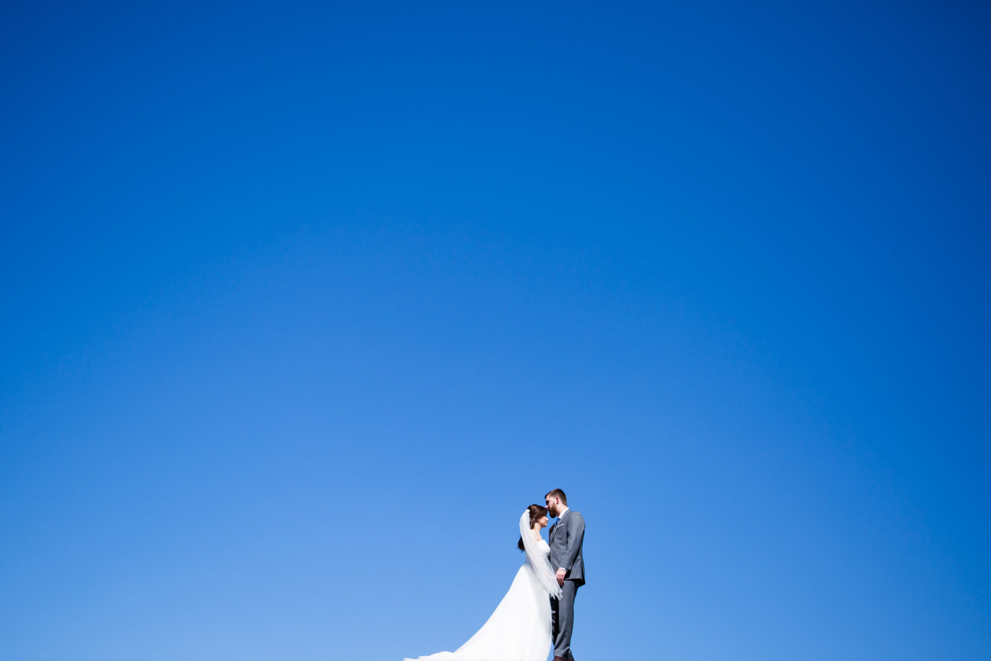 Blue Sky Bride Groom Married Wedding King City Zsuzsi Pal Photography