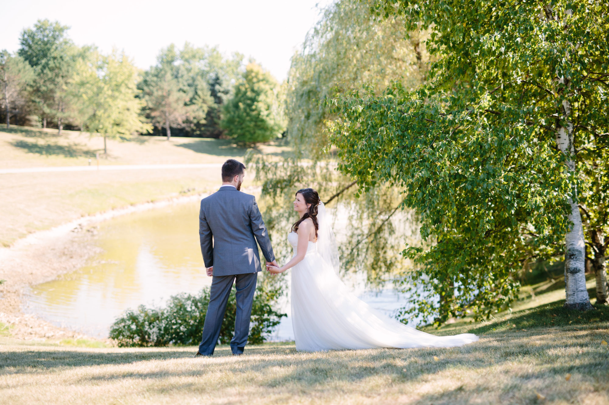 Pond Bride Groom Wedding King City Zsuzsi Pal Photography