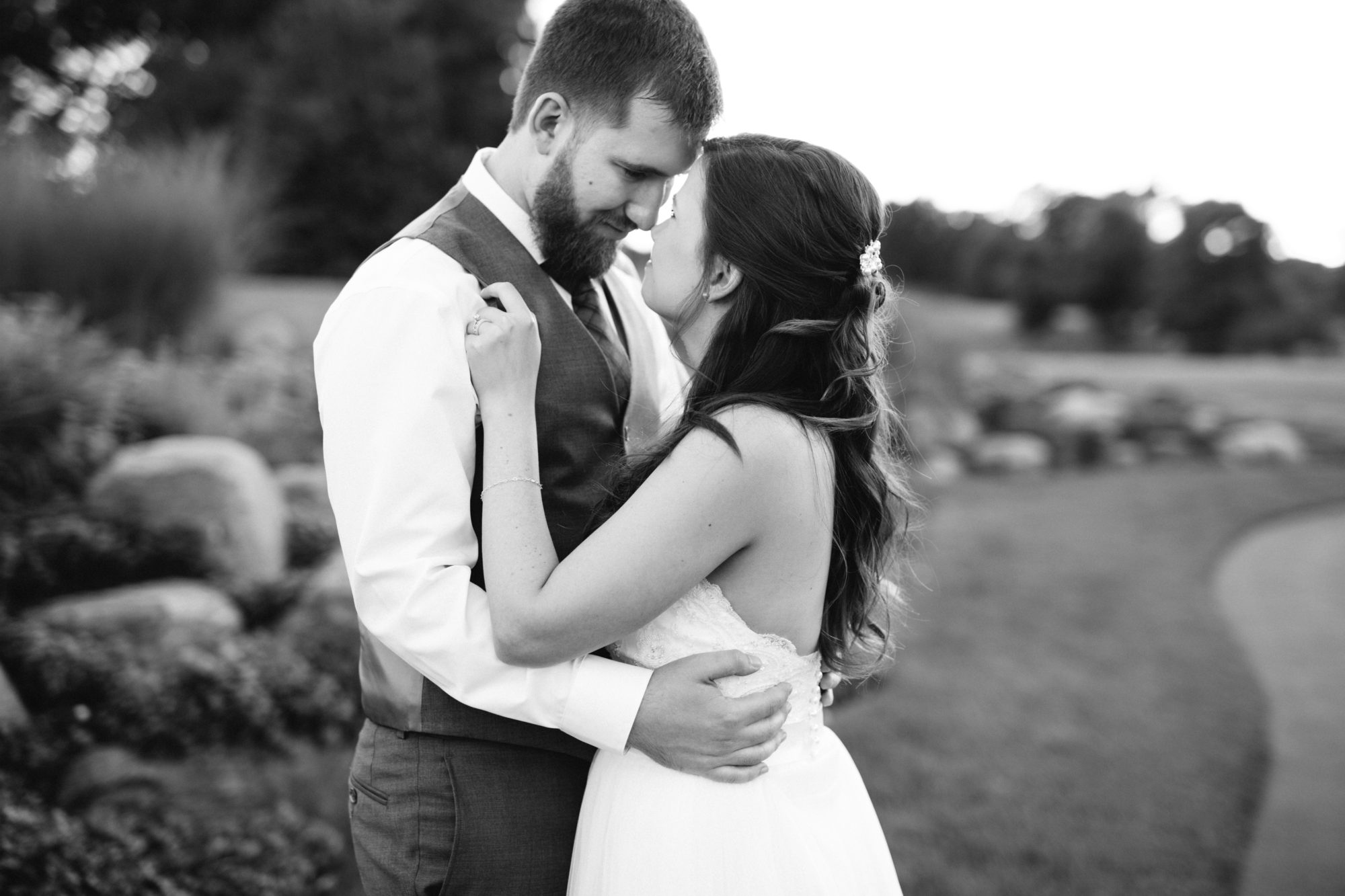 Black and White Cuddle Couple Bride Groom Wedding King City Zsuzsi Pal Photography