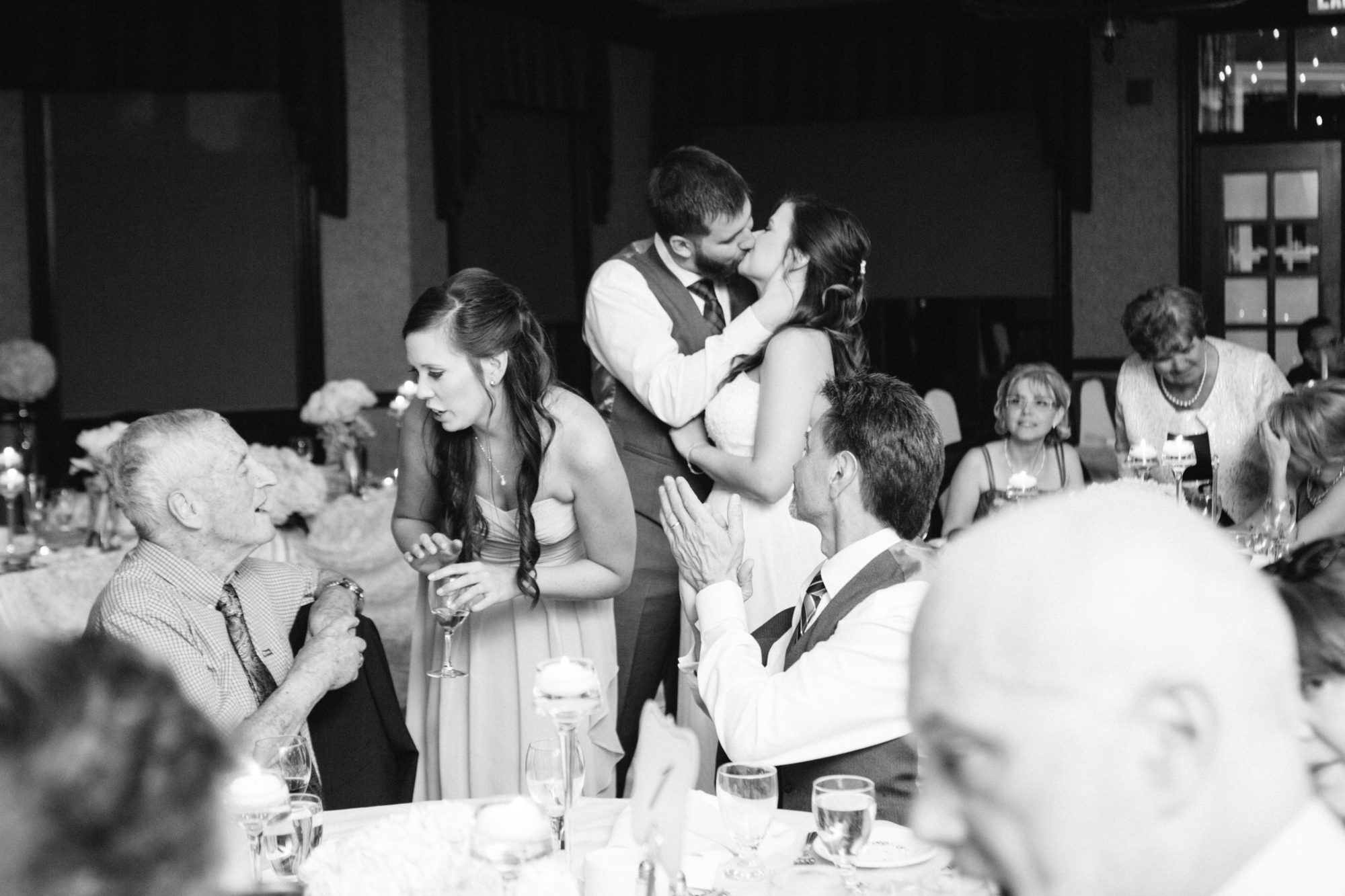 Candid Reception Kiss Wedding King City Zsuzsi Pal Photography