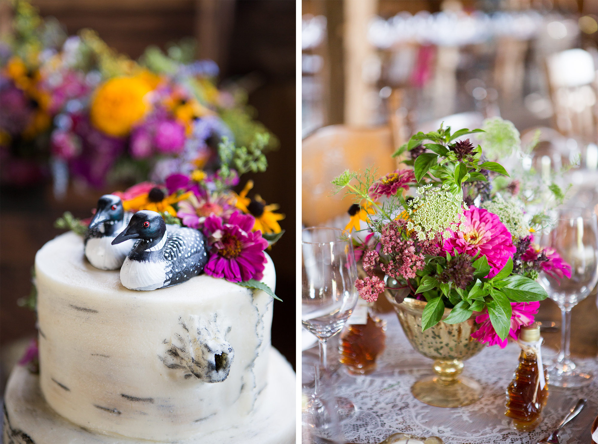 Cake Loon Flowers South Pond Farms Zsuzsi Pal Photography Wedding