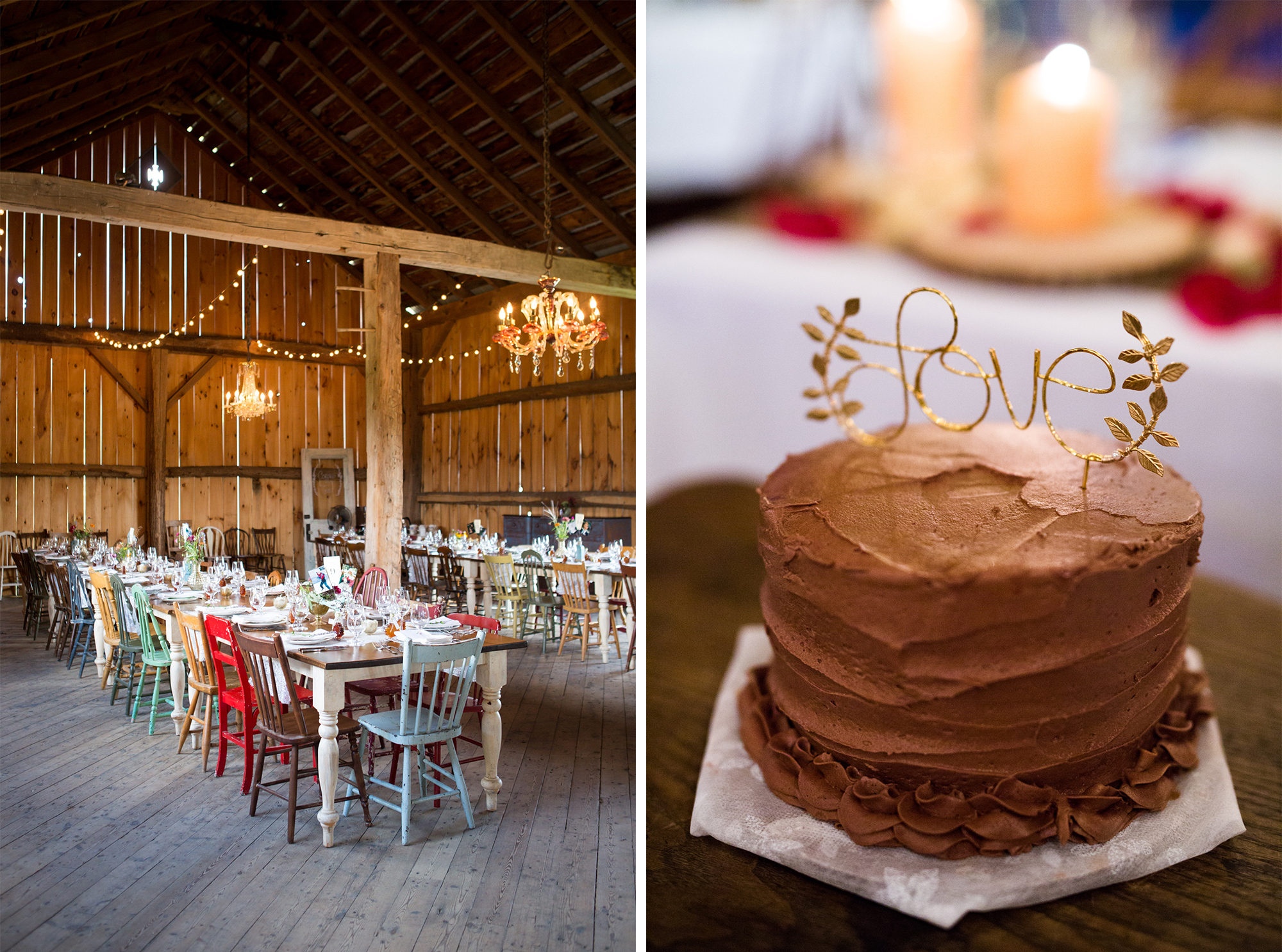 Cake Love Barn Decor Toronto Wedding Zsuzsi Pal Photography