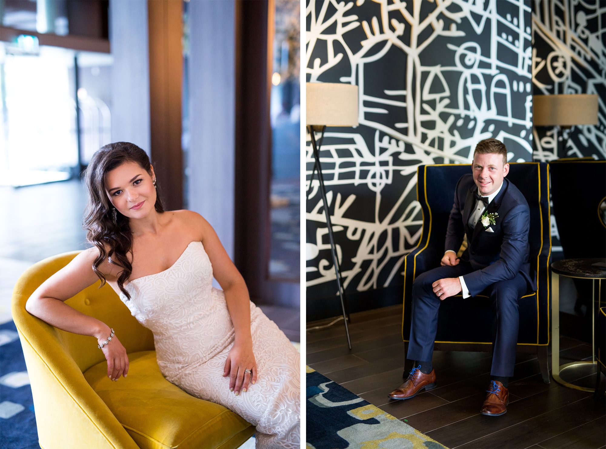 Thompson Hotel Brdie Groom Toronto Wedding Zsuzsi Pal Photography