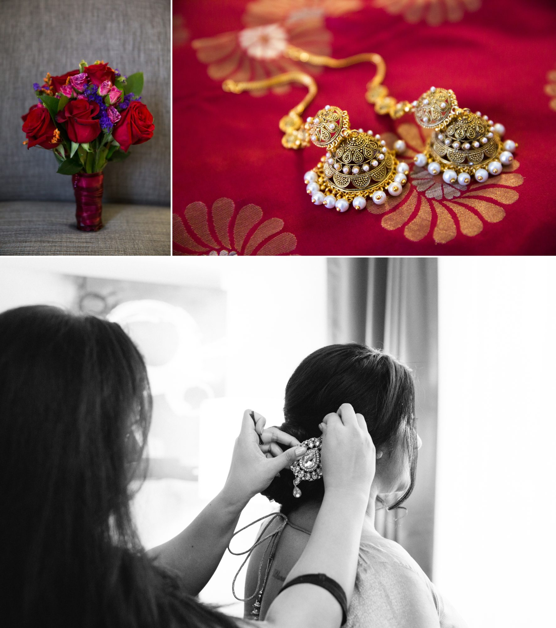 Toronto Indian Wedding Zsuzsi Pal Photography Jewelry Bouqiet Bride Prep