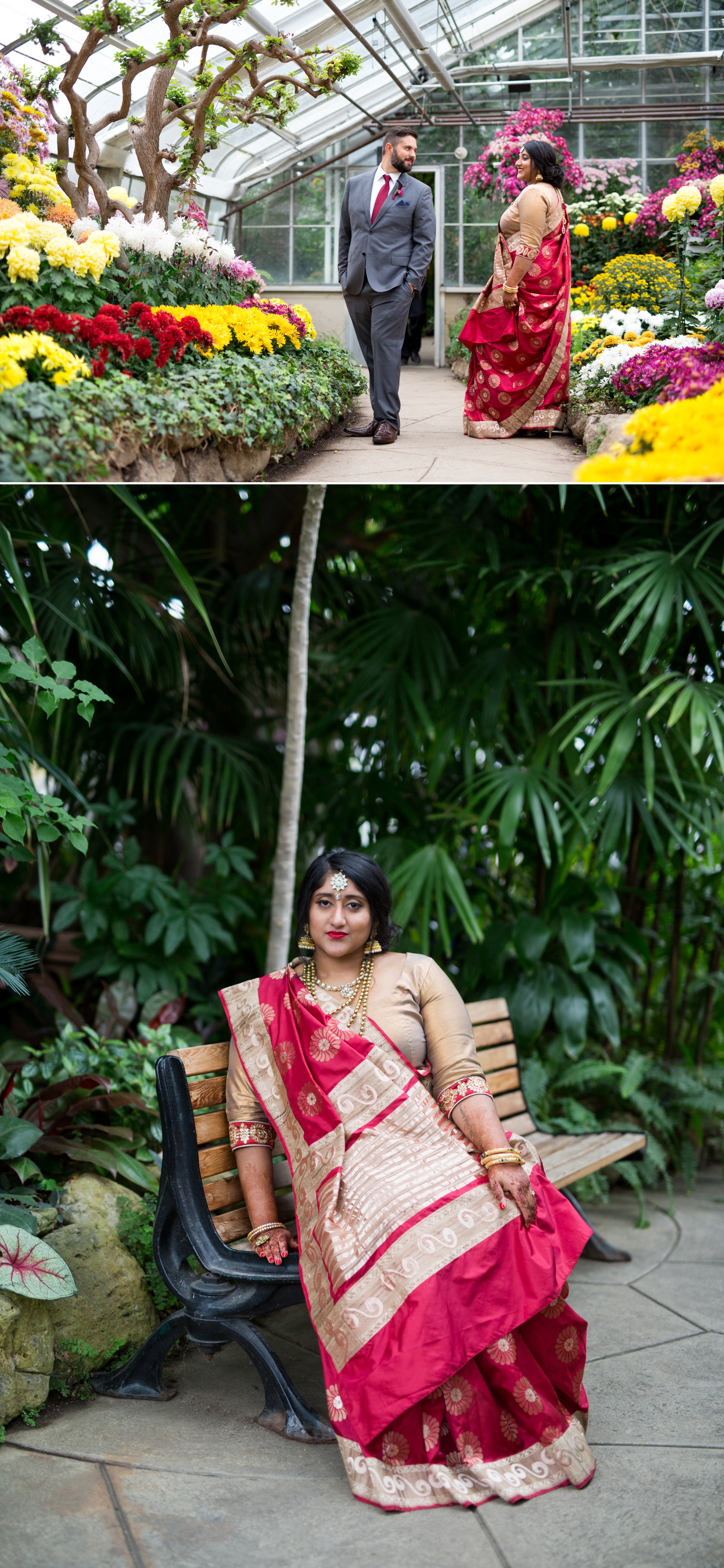 Bride Greenhouse Indian Wedding Zsuzsi Pal Photography