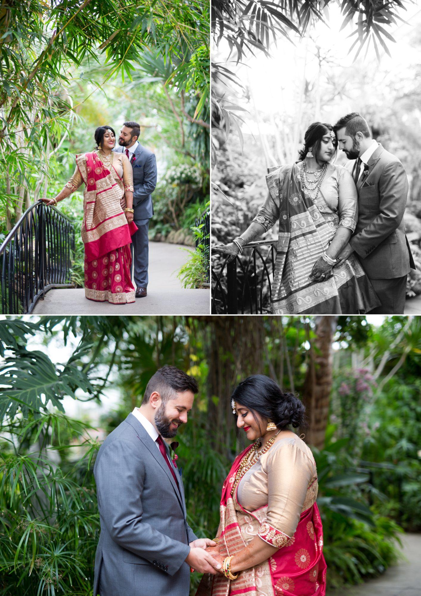 Centennial Greenhouse Couple Portraits Indian Wedding Zsuzsi Pal Photography