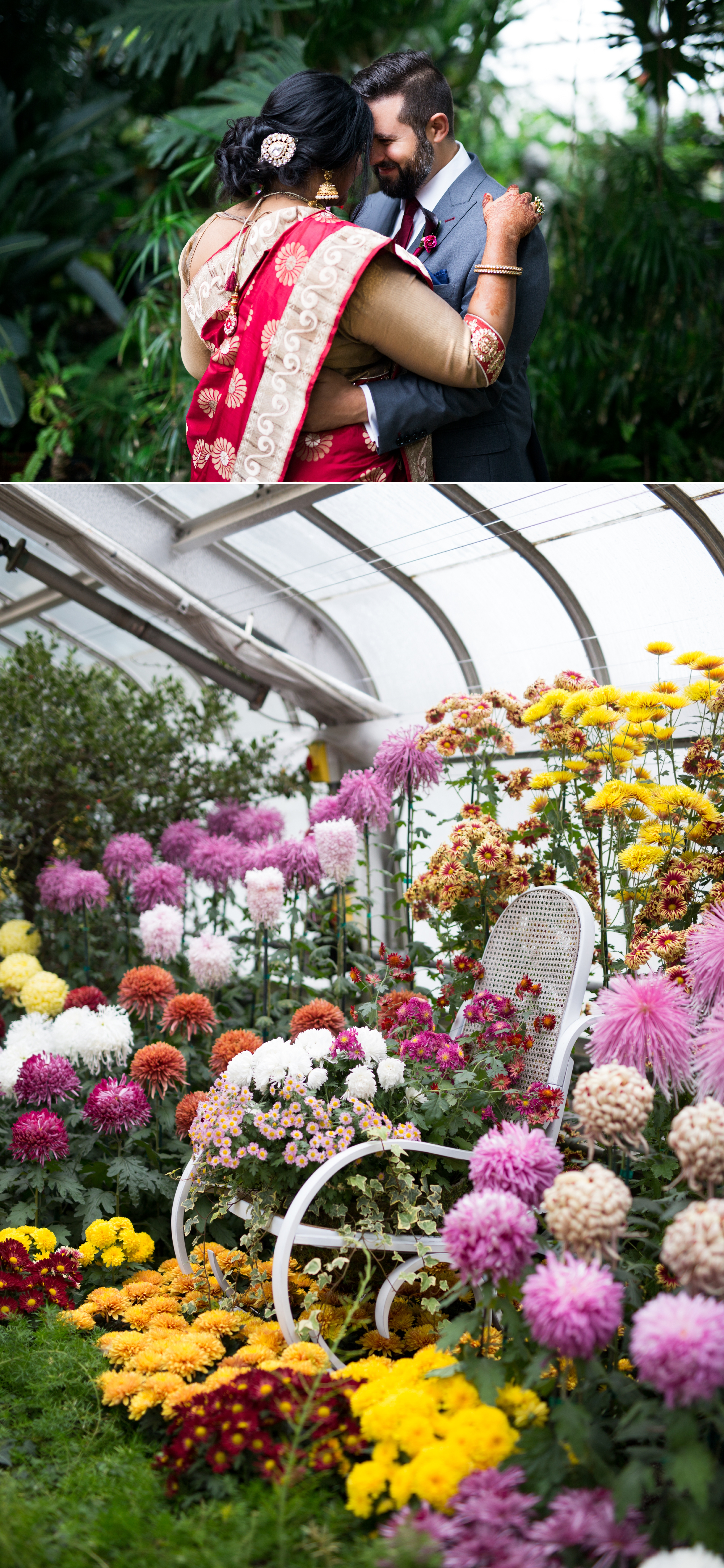 Greenhouse Flowers Indian Wedding Zsuzsi Pal Photography