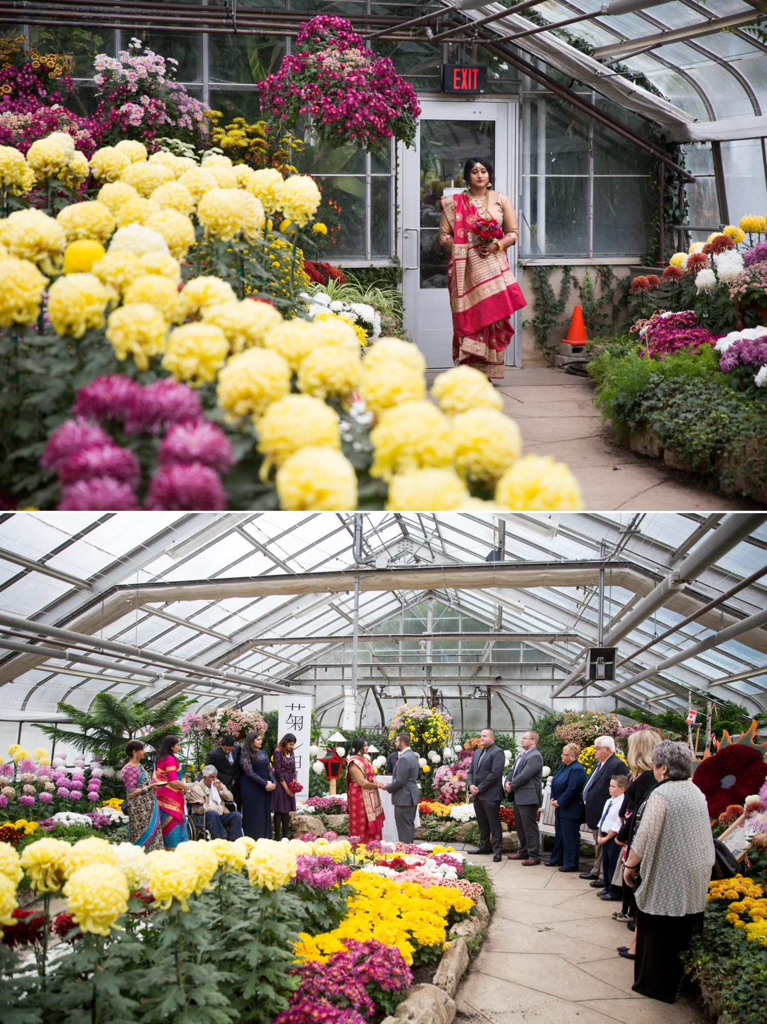 Centennial Greenhouse Ceremony Indian Wedding Zsuzsi Pal Photography