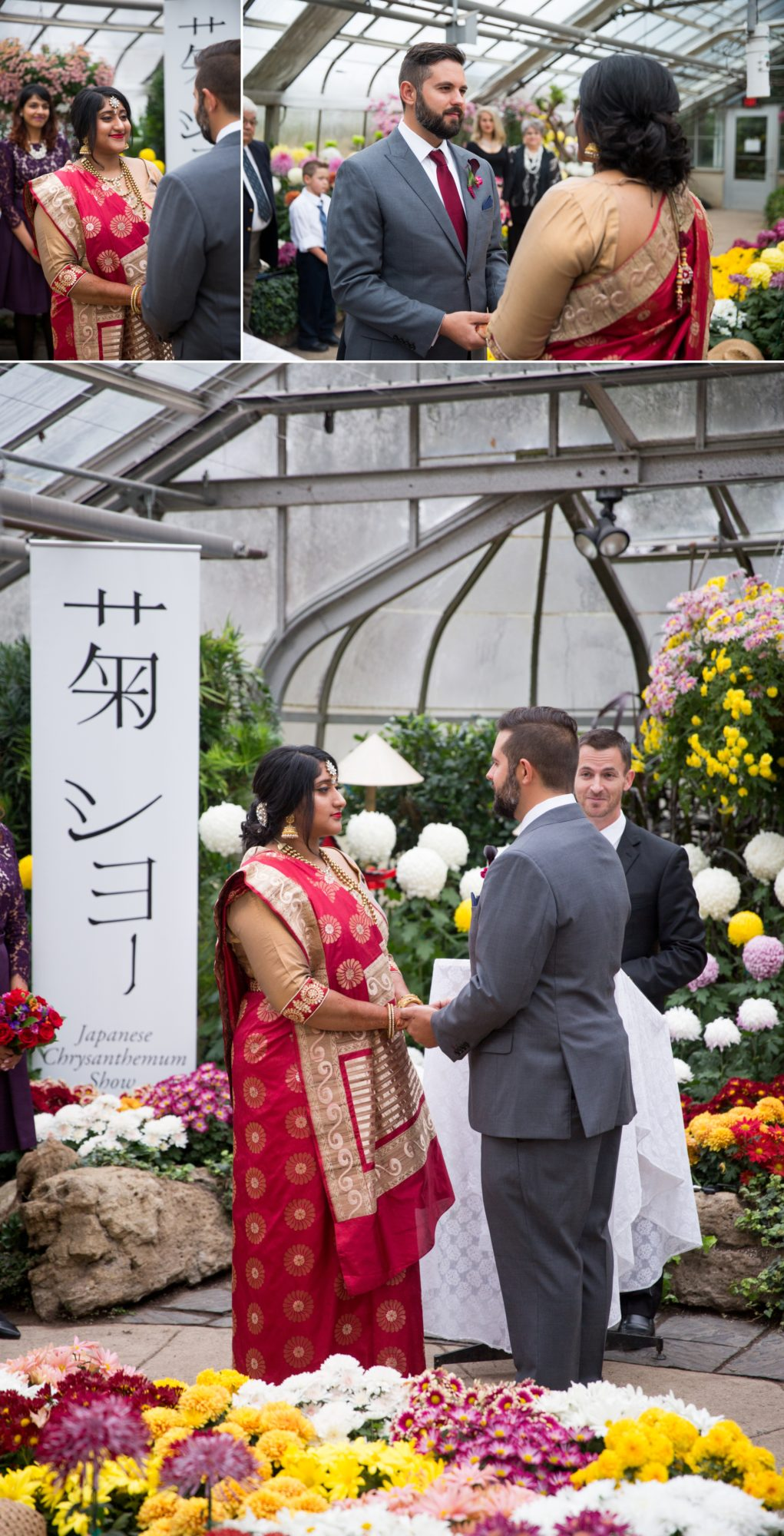 Vows Ceremony Centennial Greenhouse Indian Wedding Zsuzsi Pal Photography