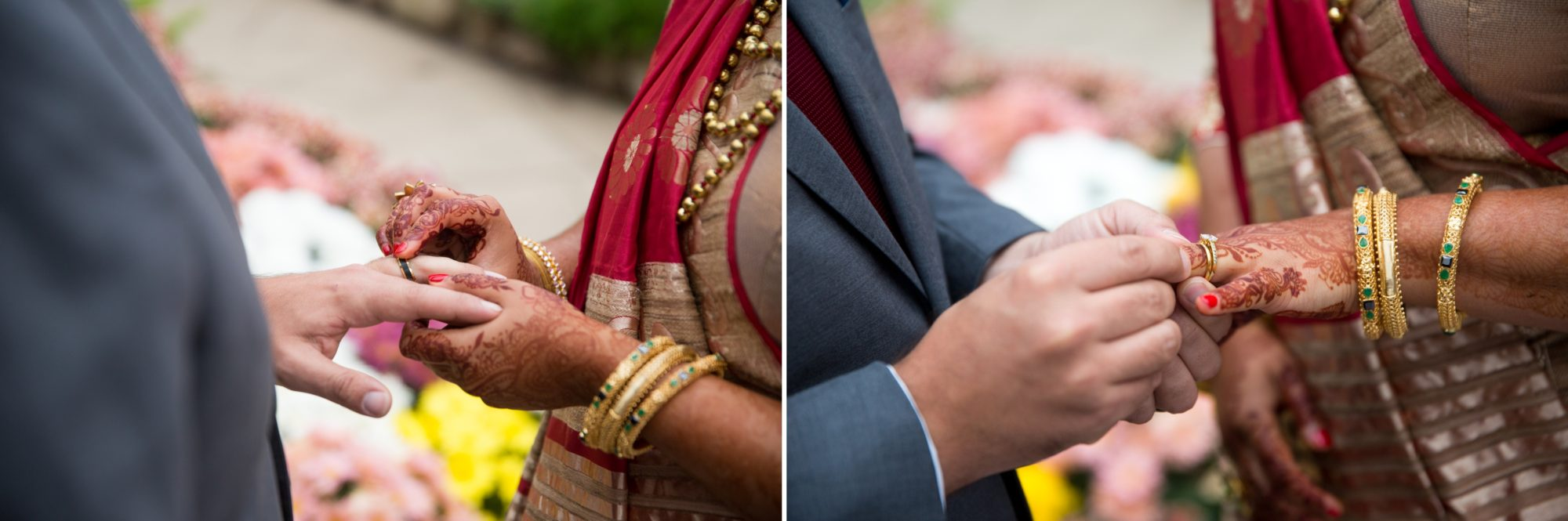 Ceremony Rings Indian Wedding Zsuzsi Pal Photography