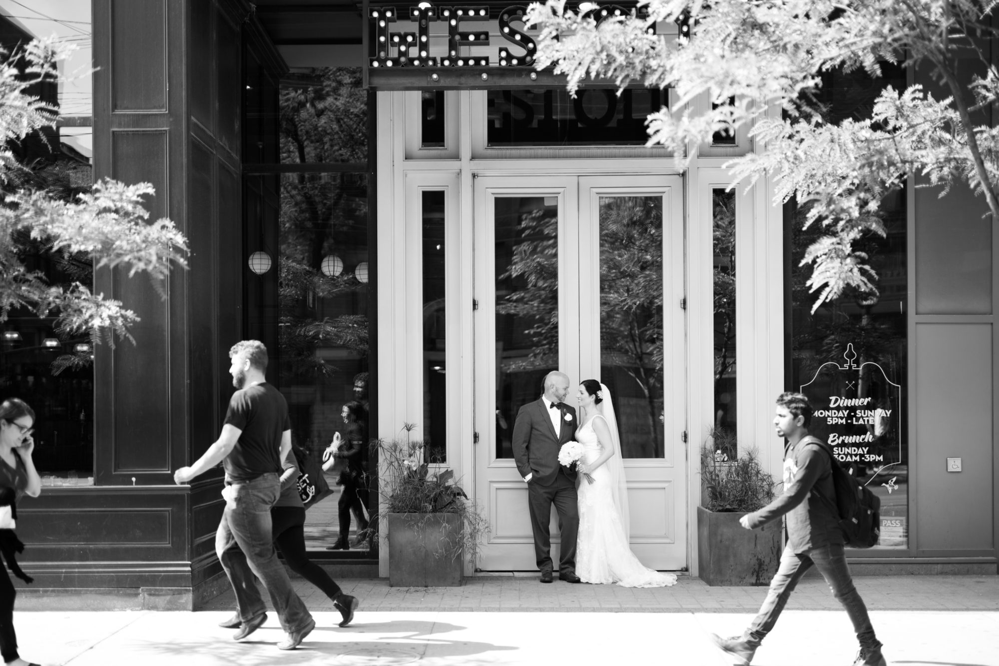 Black and White Weslodge Toronto Wedding 2nd Floor Events Zsuzsi Pal Photography