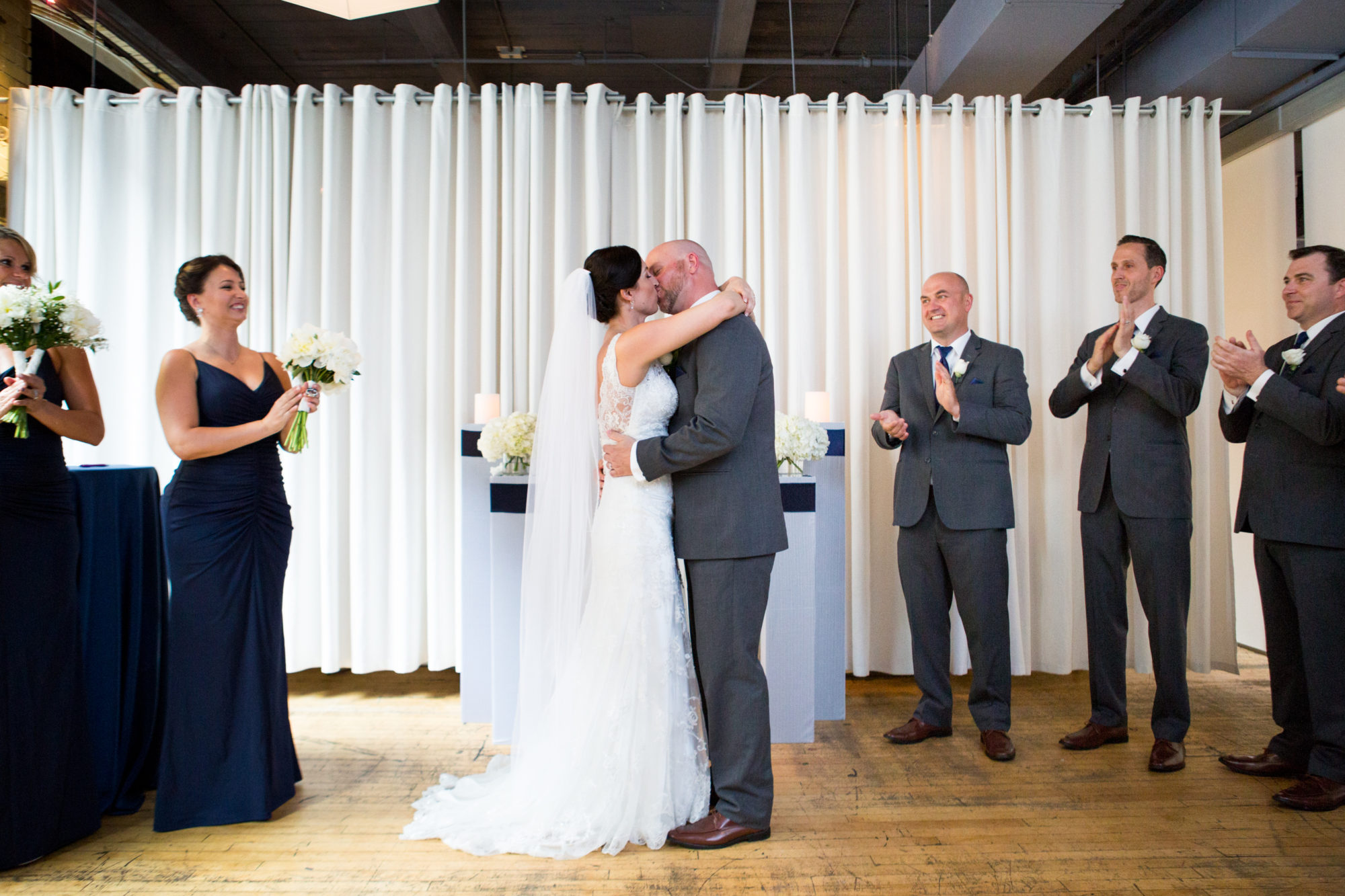 Ceremony Kiss Toronto Wedding 2nd Floor Events Zsuzsi Pal Photography