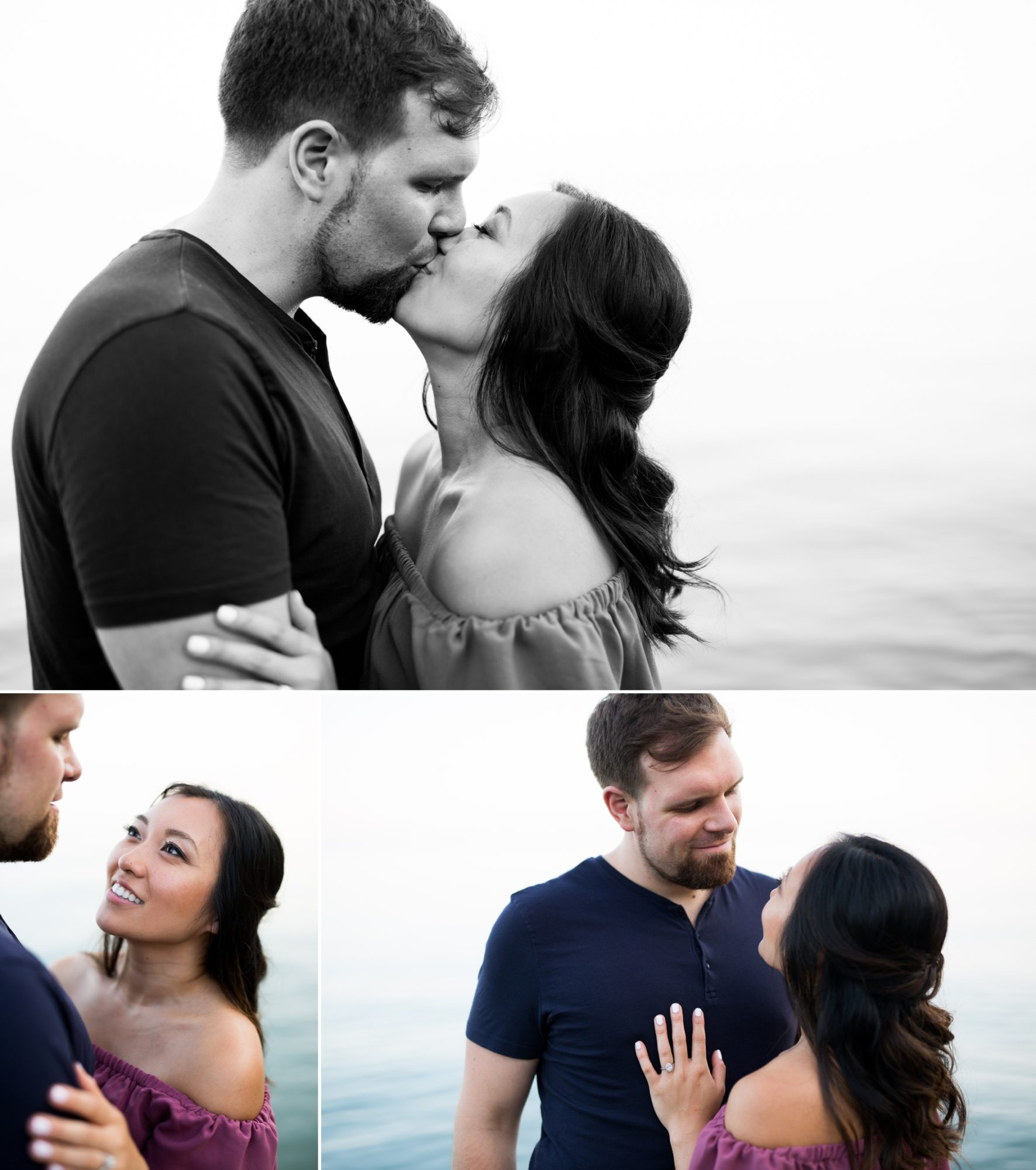 Lake Ontario Couple Scarborough Bluffs Engagement Zsuzsi Pal Photography Toronto