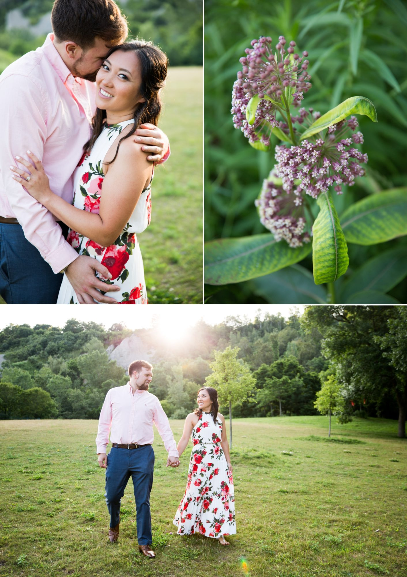 Flowers Sunset Scarborough Bluffs Engagement Zsuzsi Pal Photography Toronto