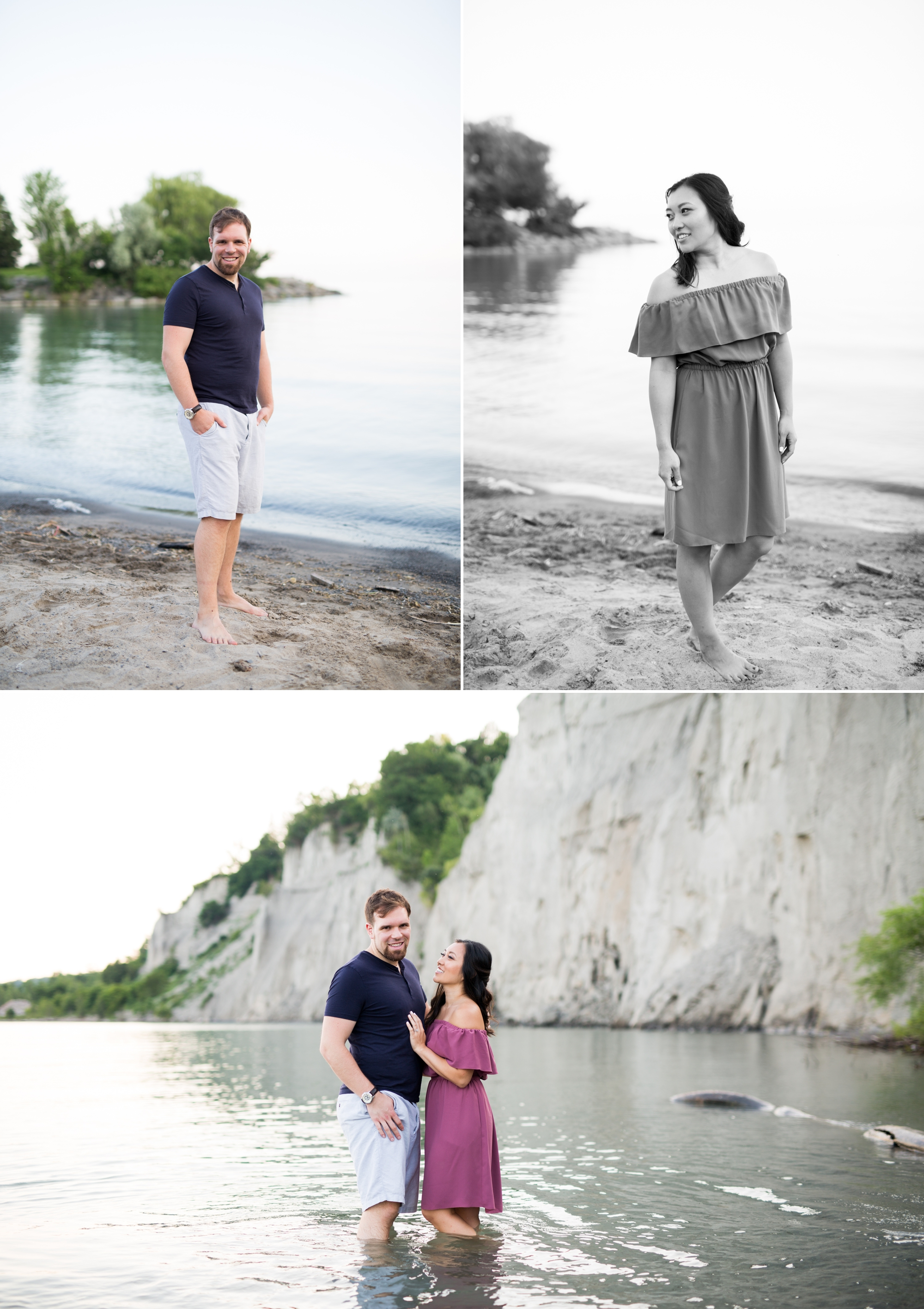 Beach Lake Ontario Scarborough Bluffs Engagement Zsuzsi Pal Photography Toronto