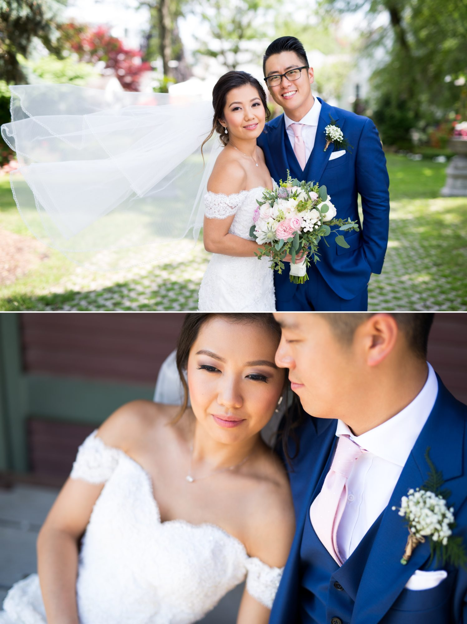 Couple Veil Toronto Chinese Korean Wedding Zsuzsi Pal Photography